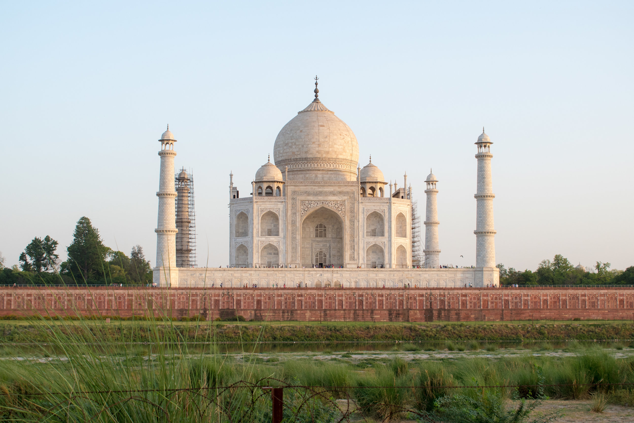 The Taj Mahal From Across The River in India