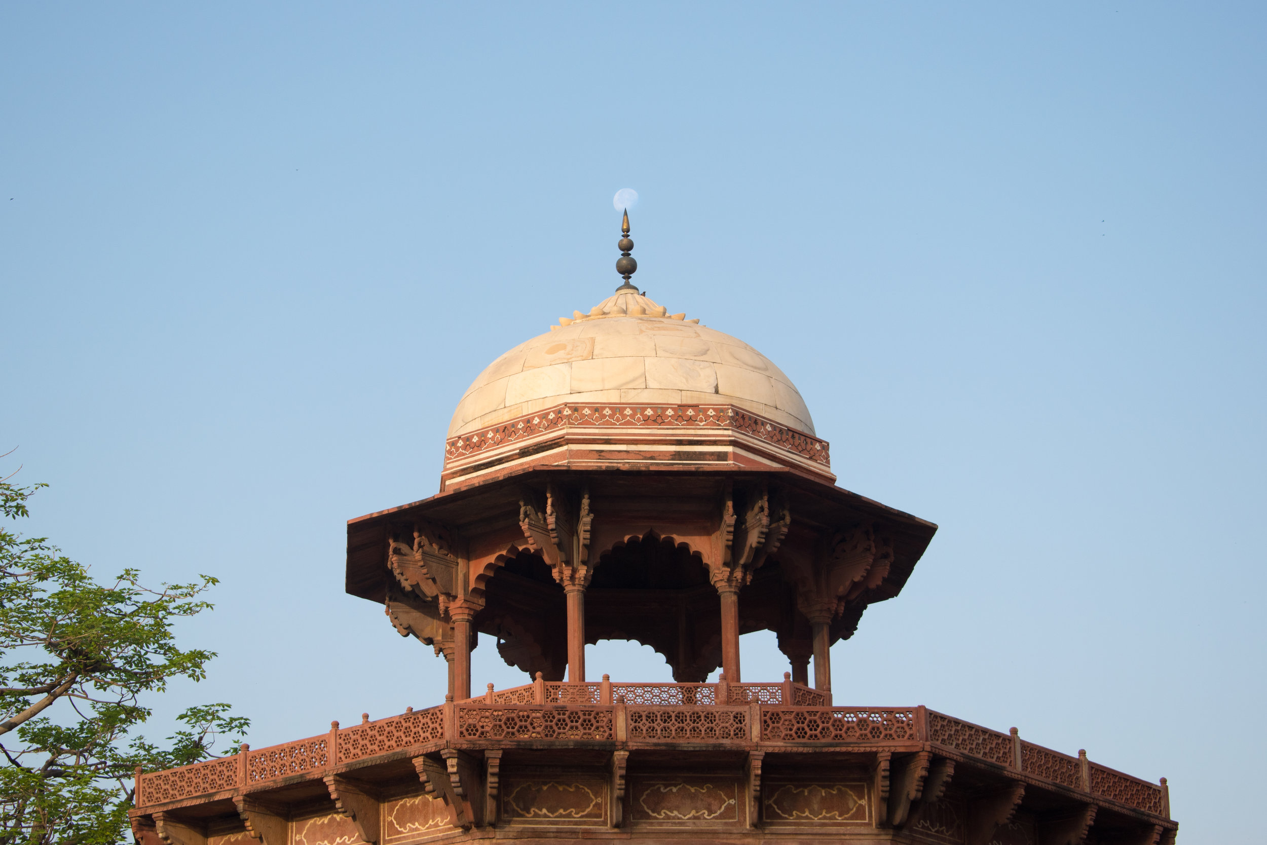 A Decorative Tower in The Taj Mahal Complex in India