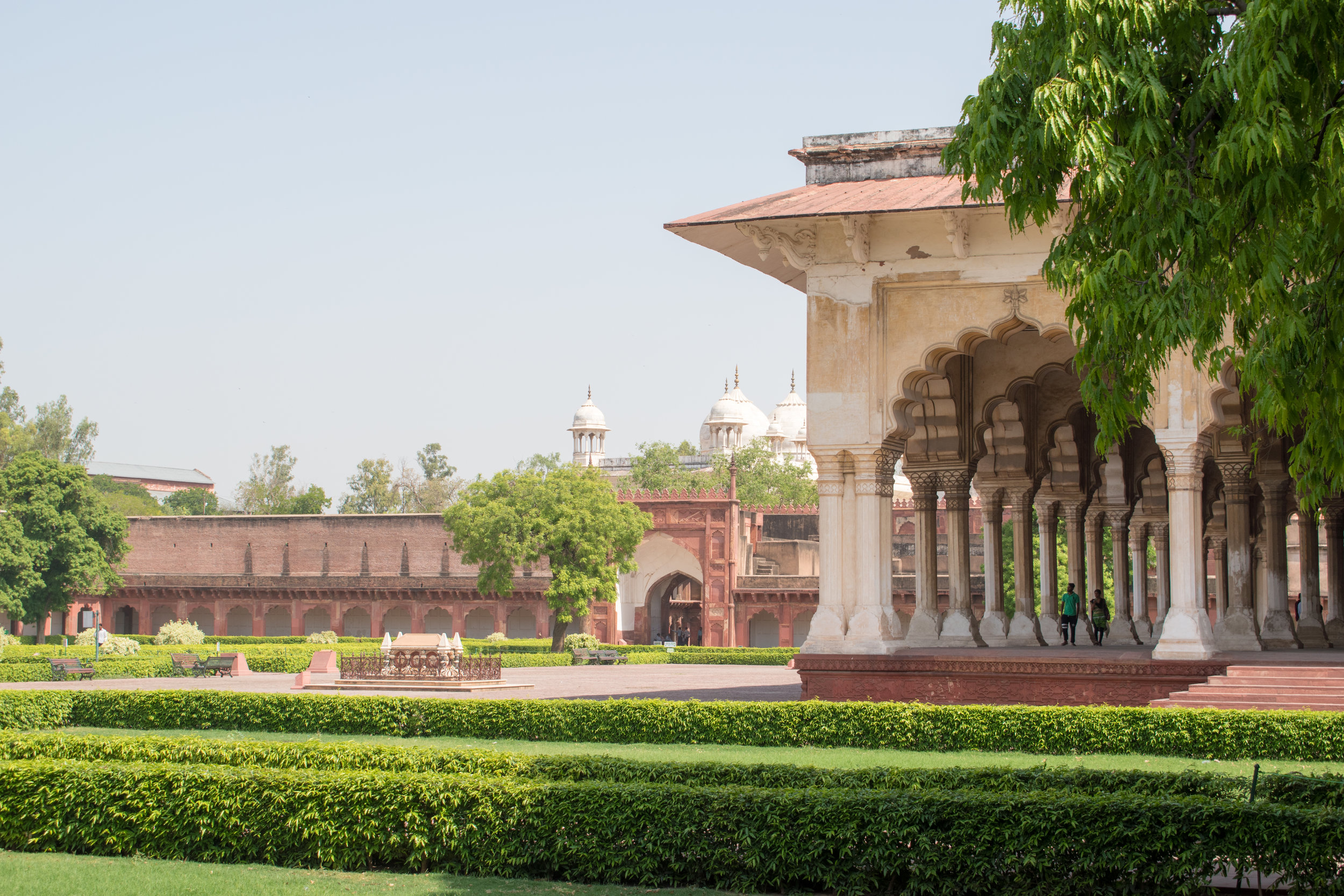 Gardens at Agra Fort, India