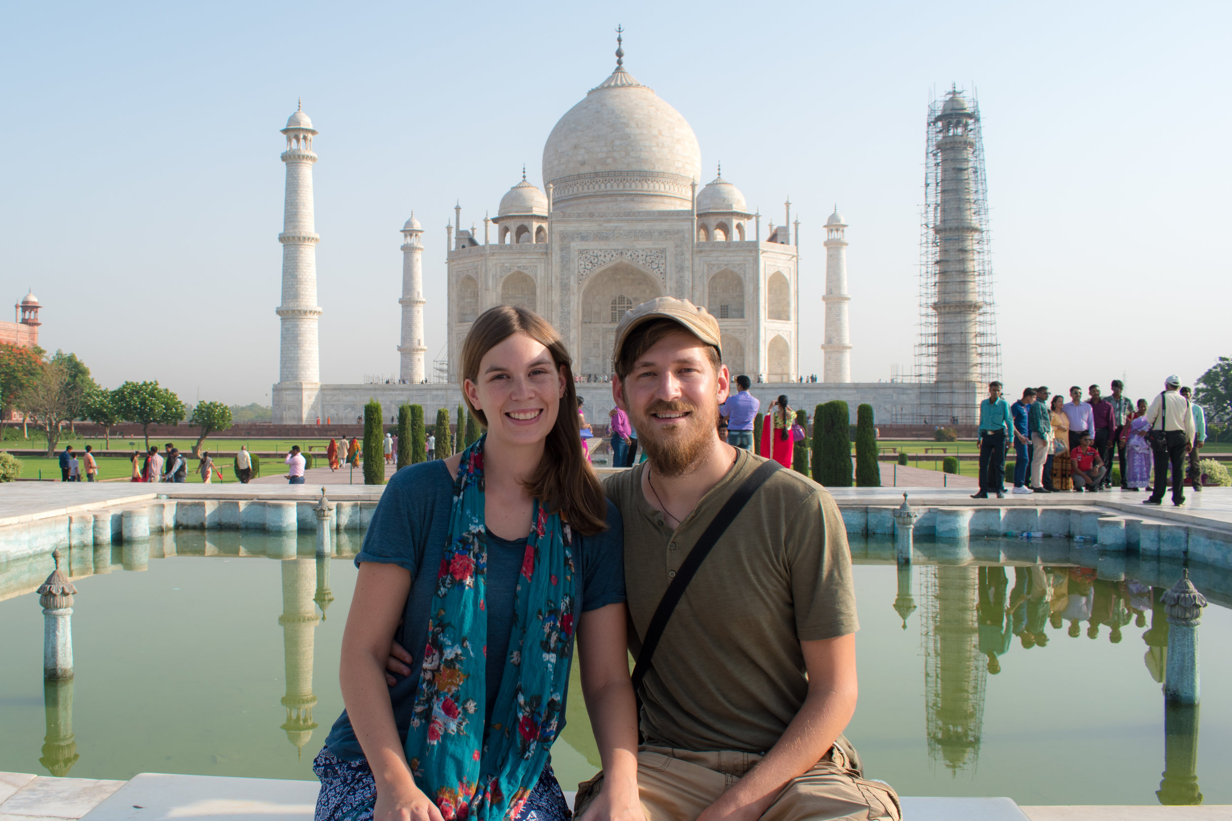 Craig and Myself In Front Of The Taj Mahal in India