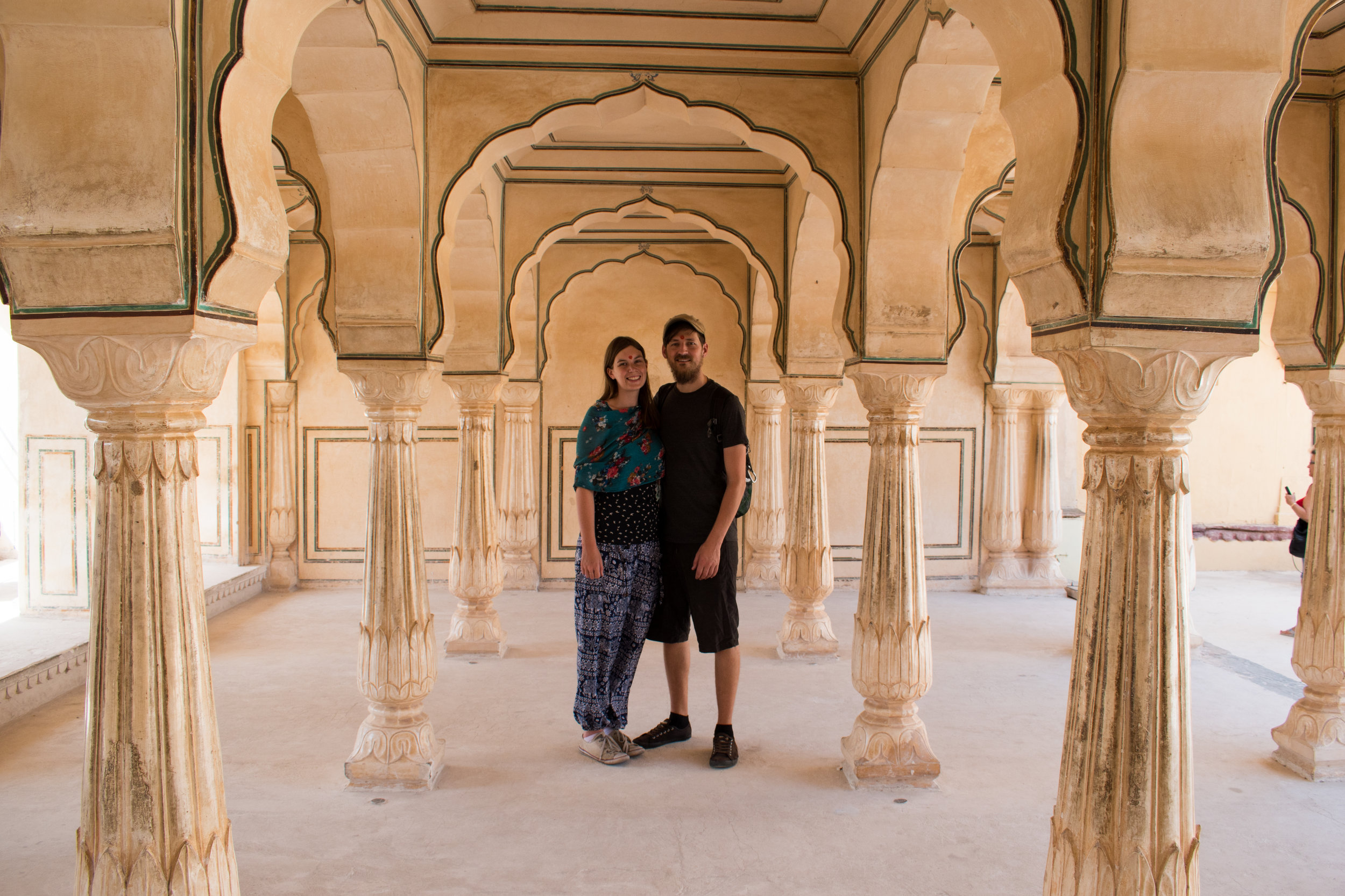 Craig and I at The Amber Fort in Jaipur, India