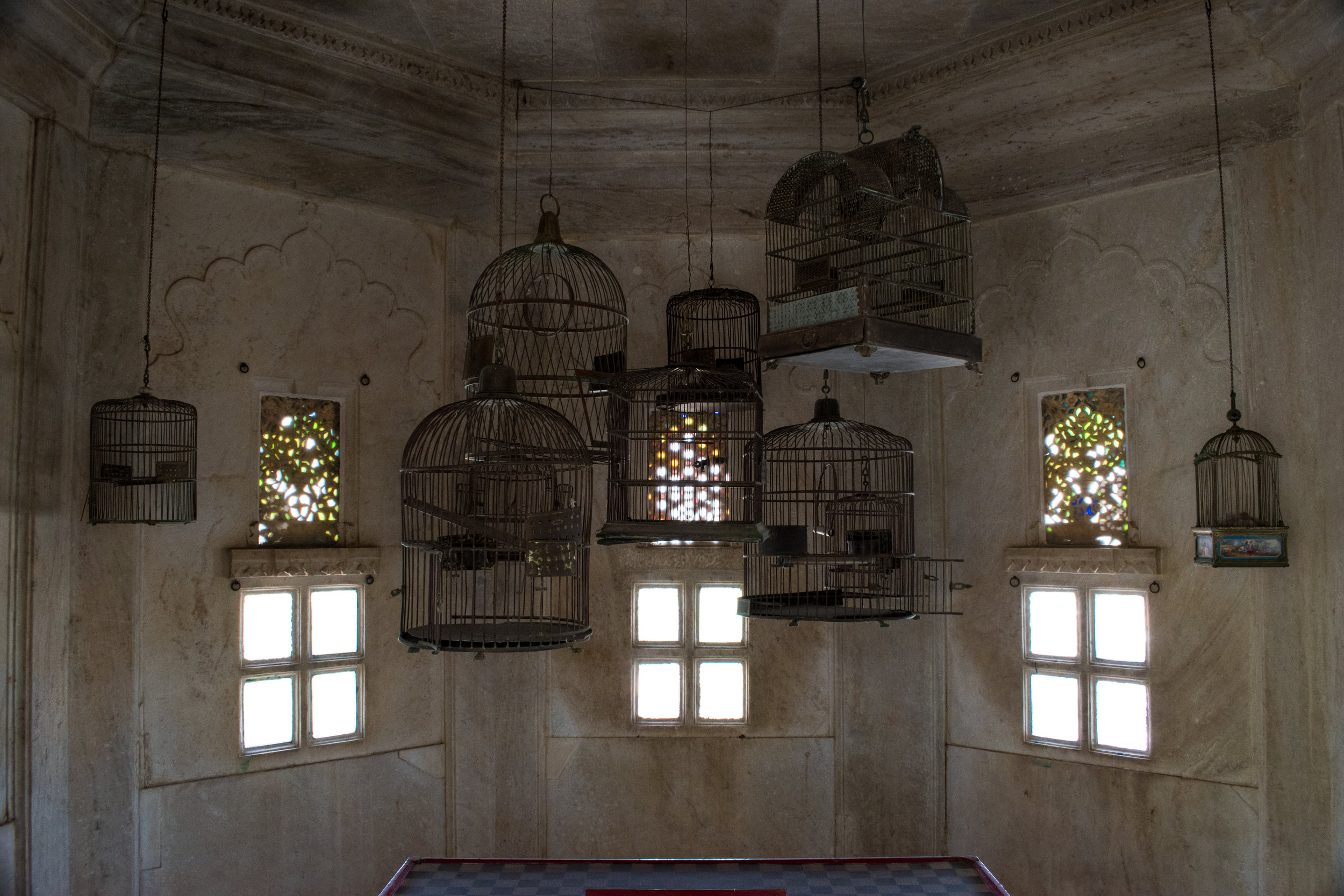 Bird Cages In The City Palace In Udaipur, India