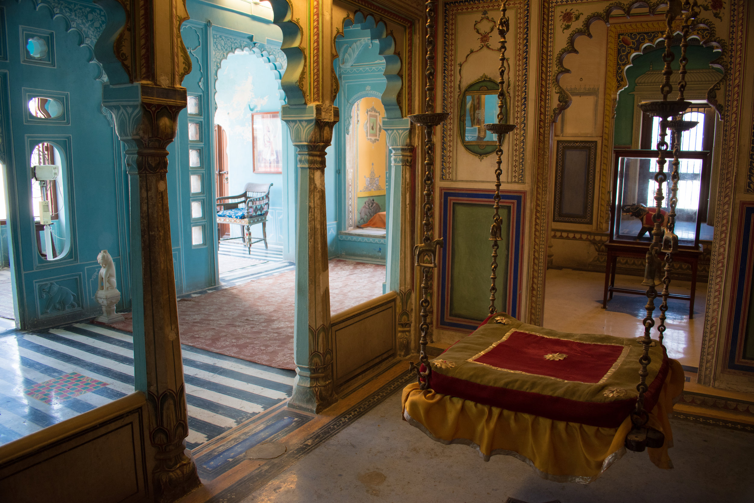 The City Palace Interior Decoration In Udaipur, India