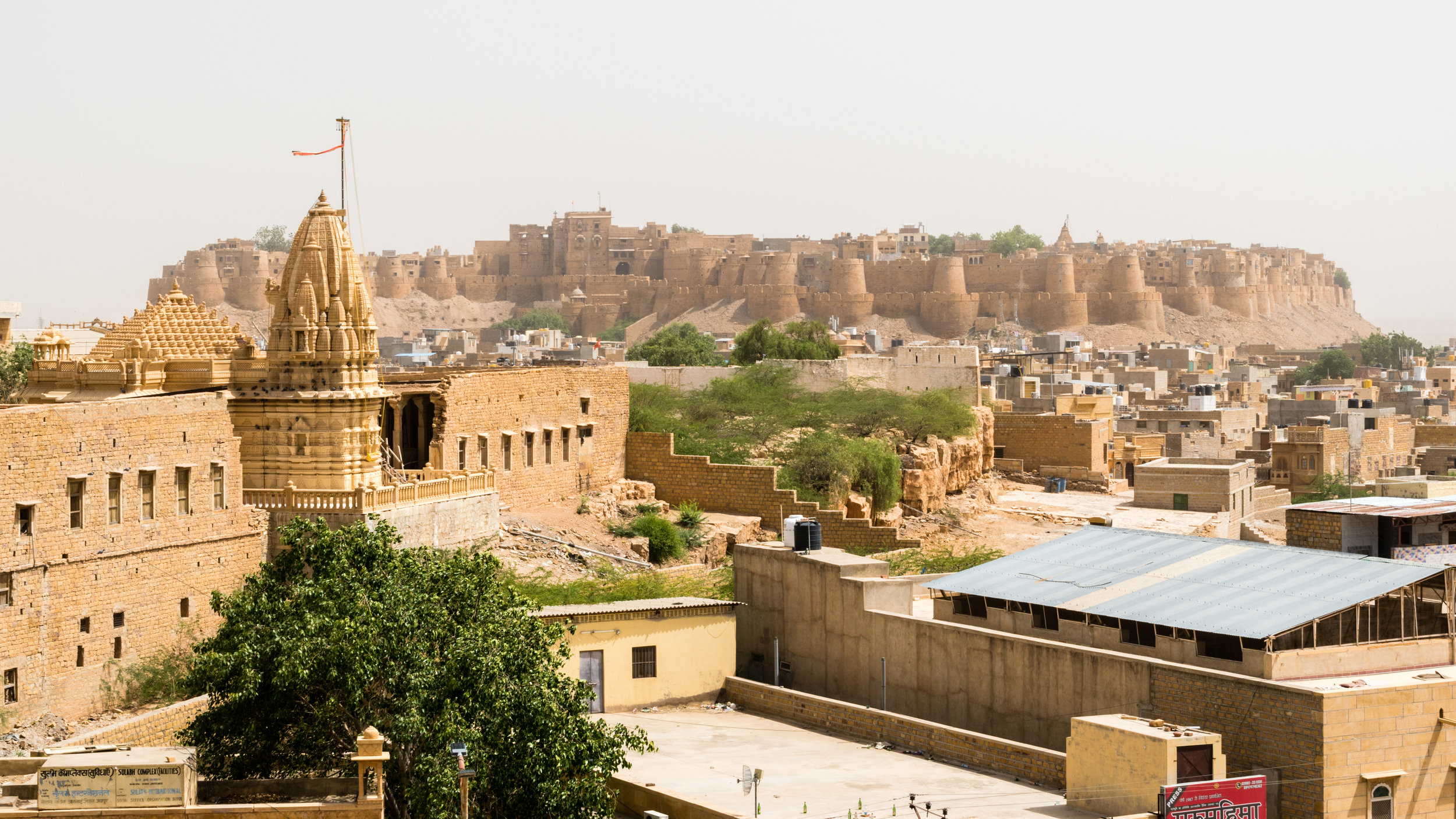The Fort At Jaisalmer From Our Hotel Roof Terrace, India