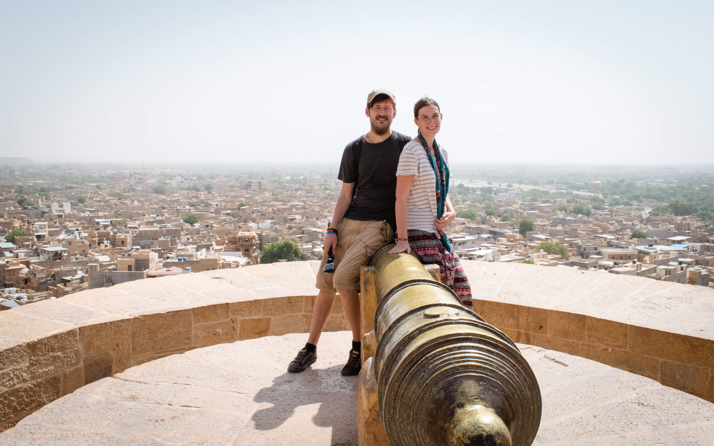 Us In Jaisalmer In India