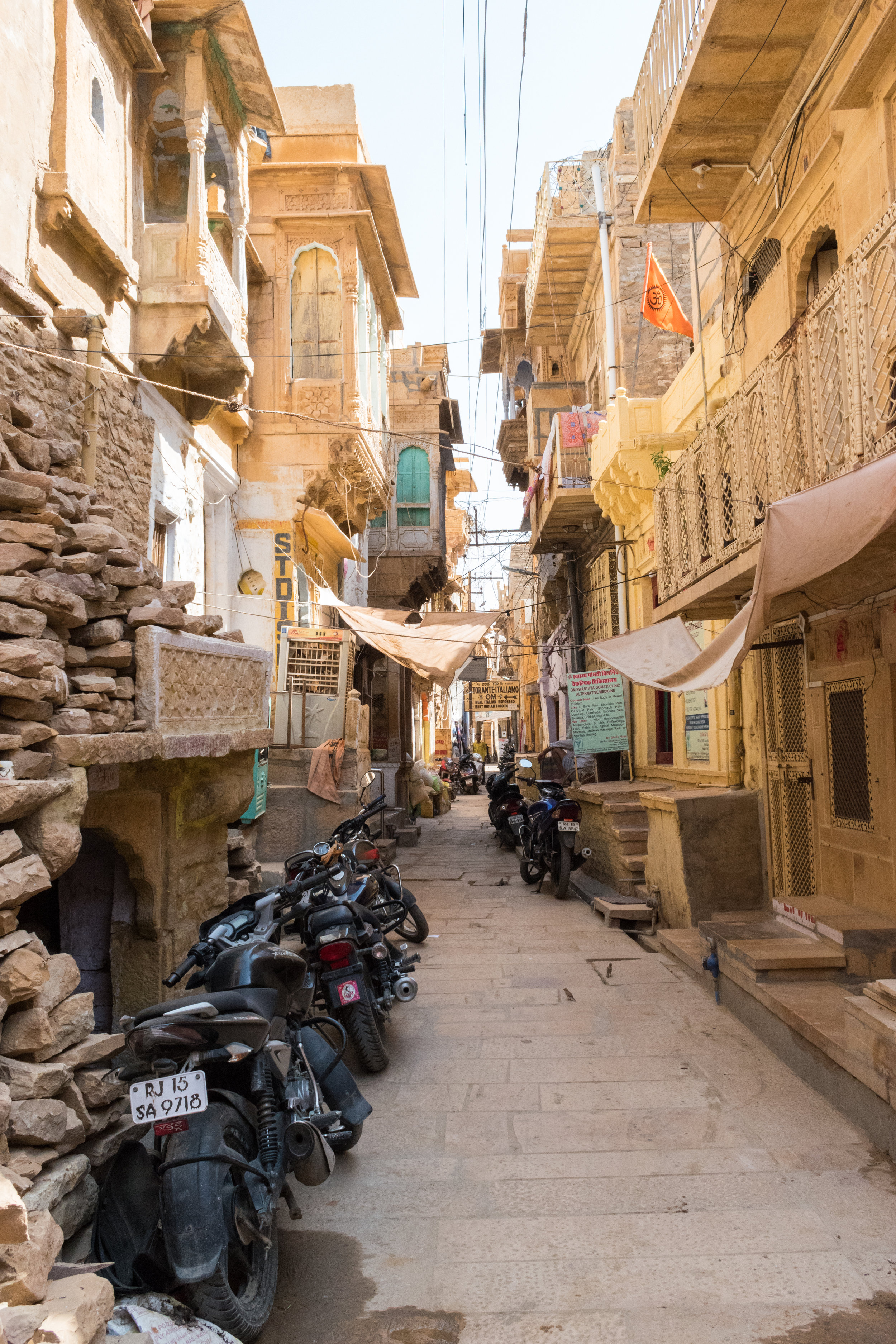 Narrow Streets In Jaisalmer In India