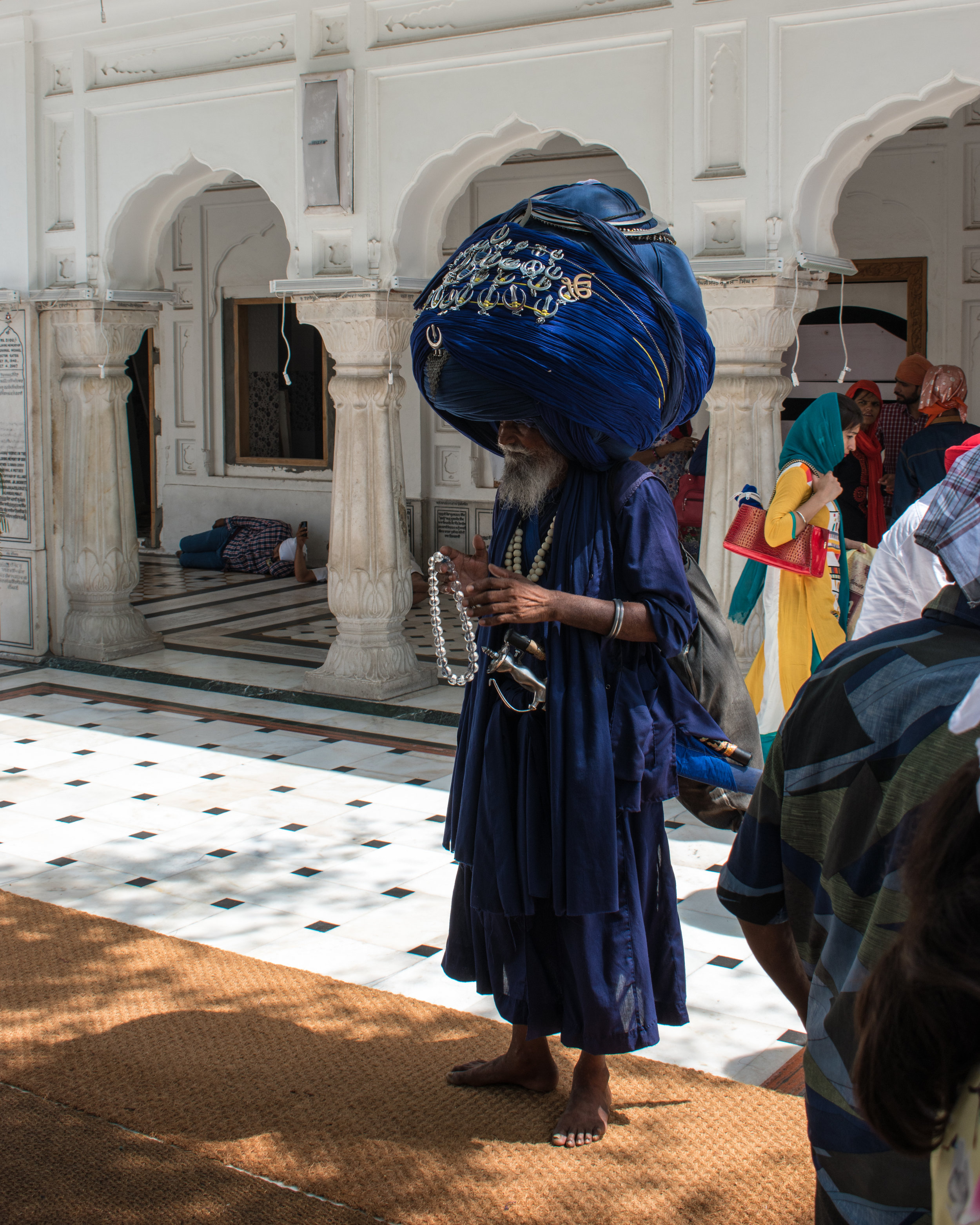 A Sikh Man At The Golden Temple in Amritsar, India