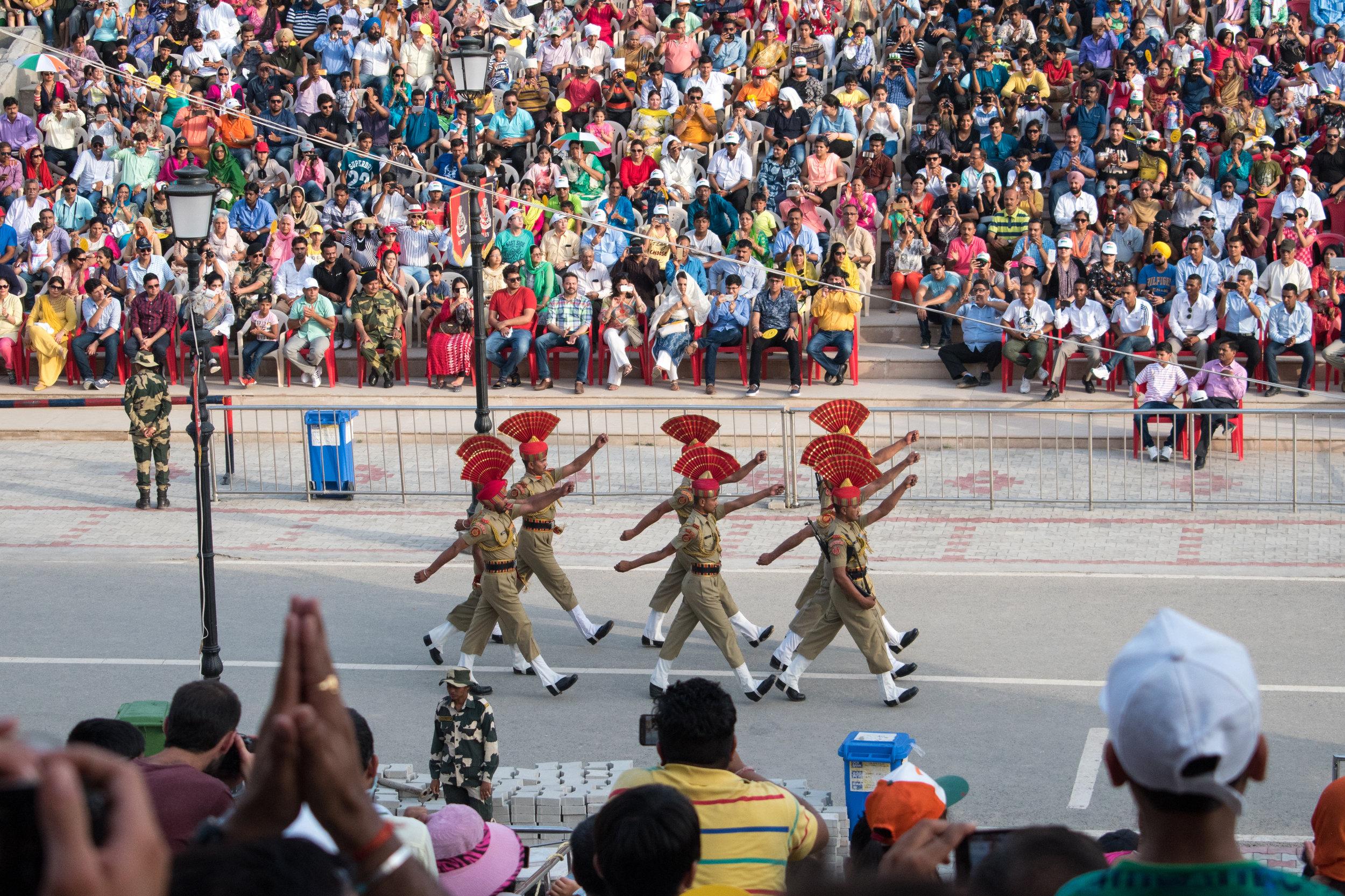 Impressive Hats And High Kicks At The Wagah Border, India