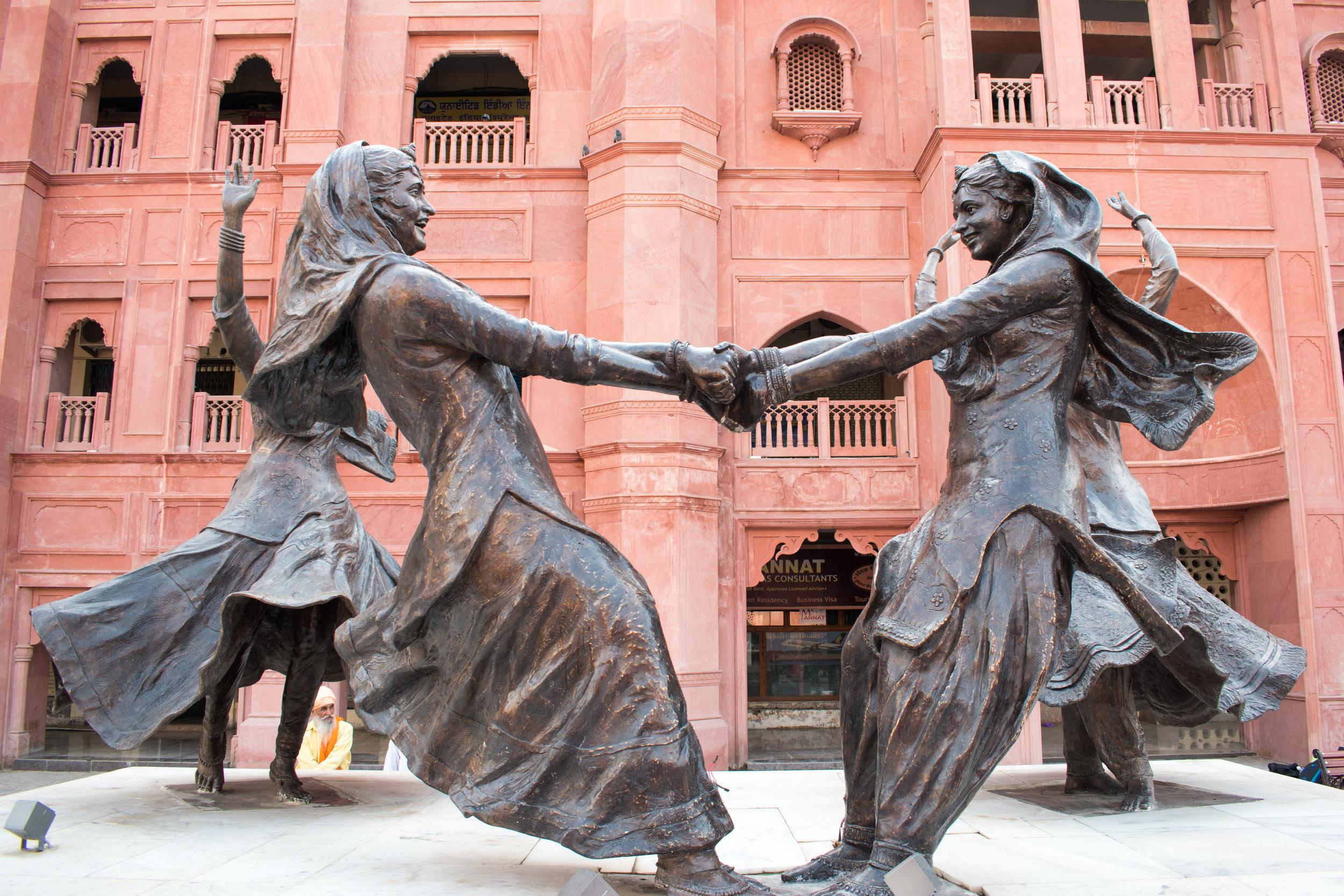 Joyous Sculpture In Amritsar, India