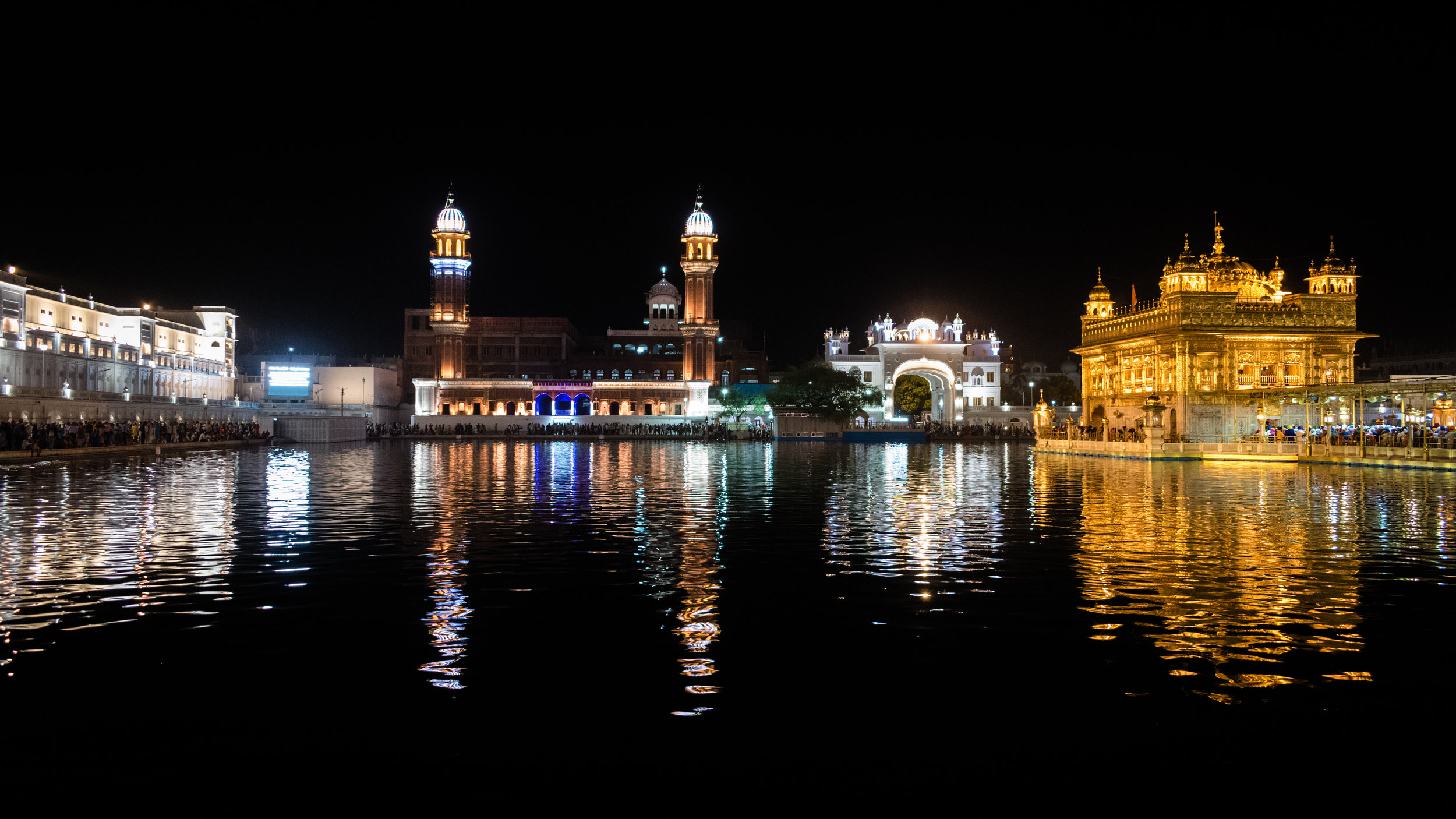 The Golden Temple At Night, India
