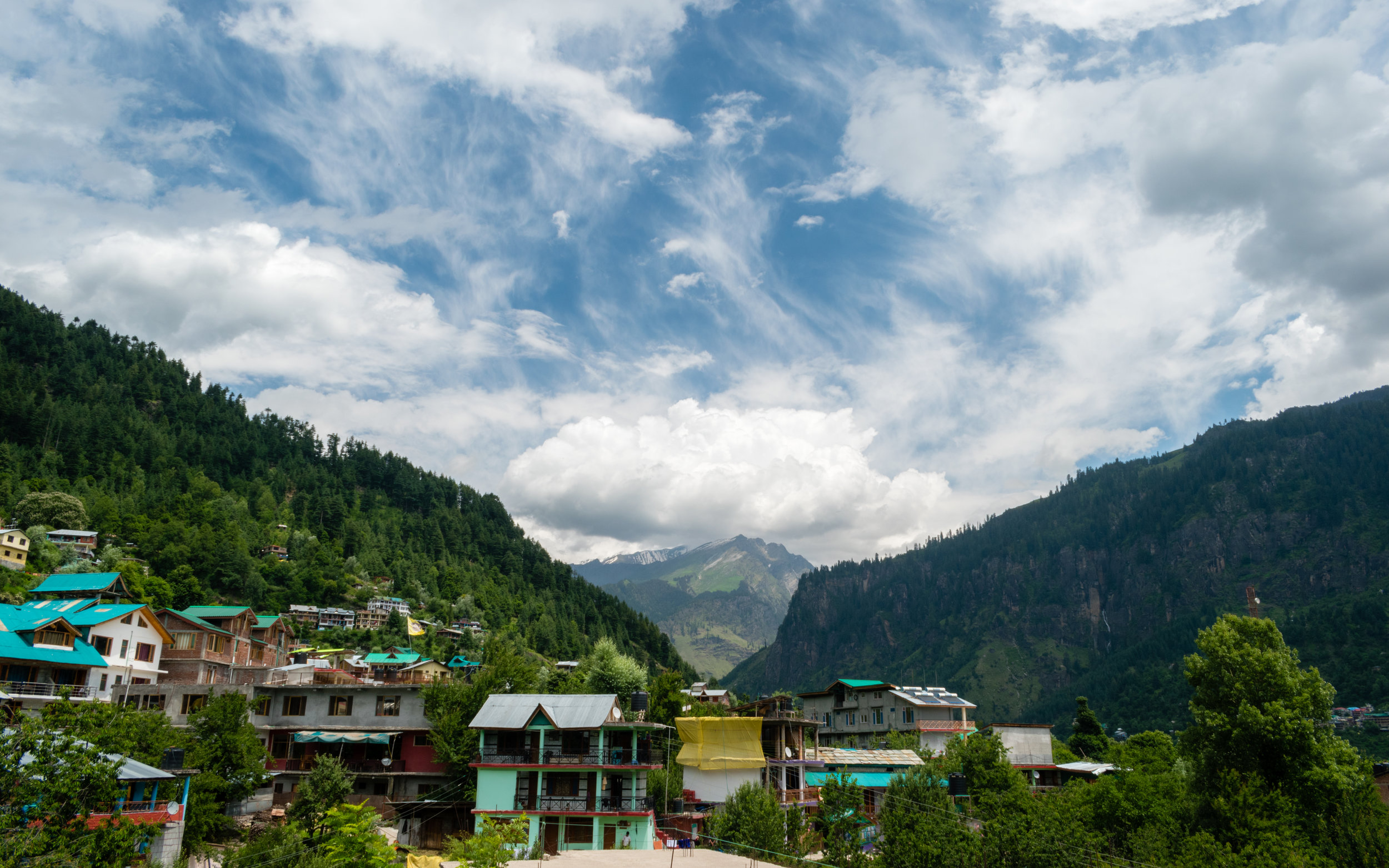 Our Hotel View In Manali, India