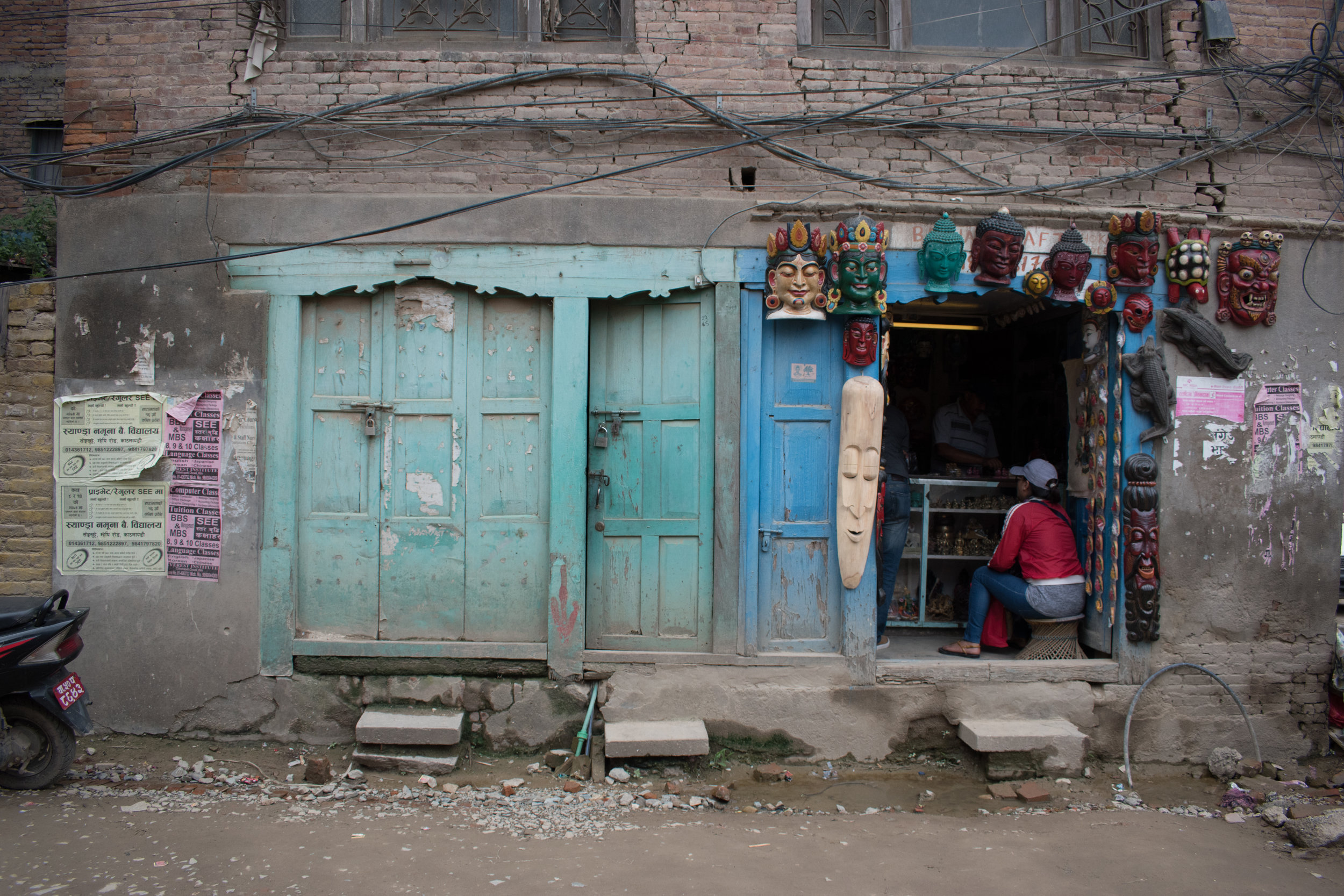 I Love The Colour Of These Doors - Street Scenes in Kathmandu, Nepal