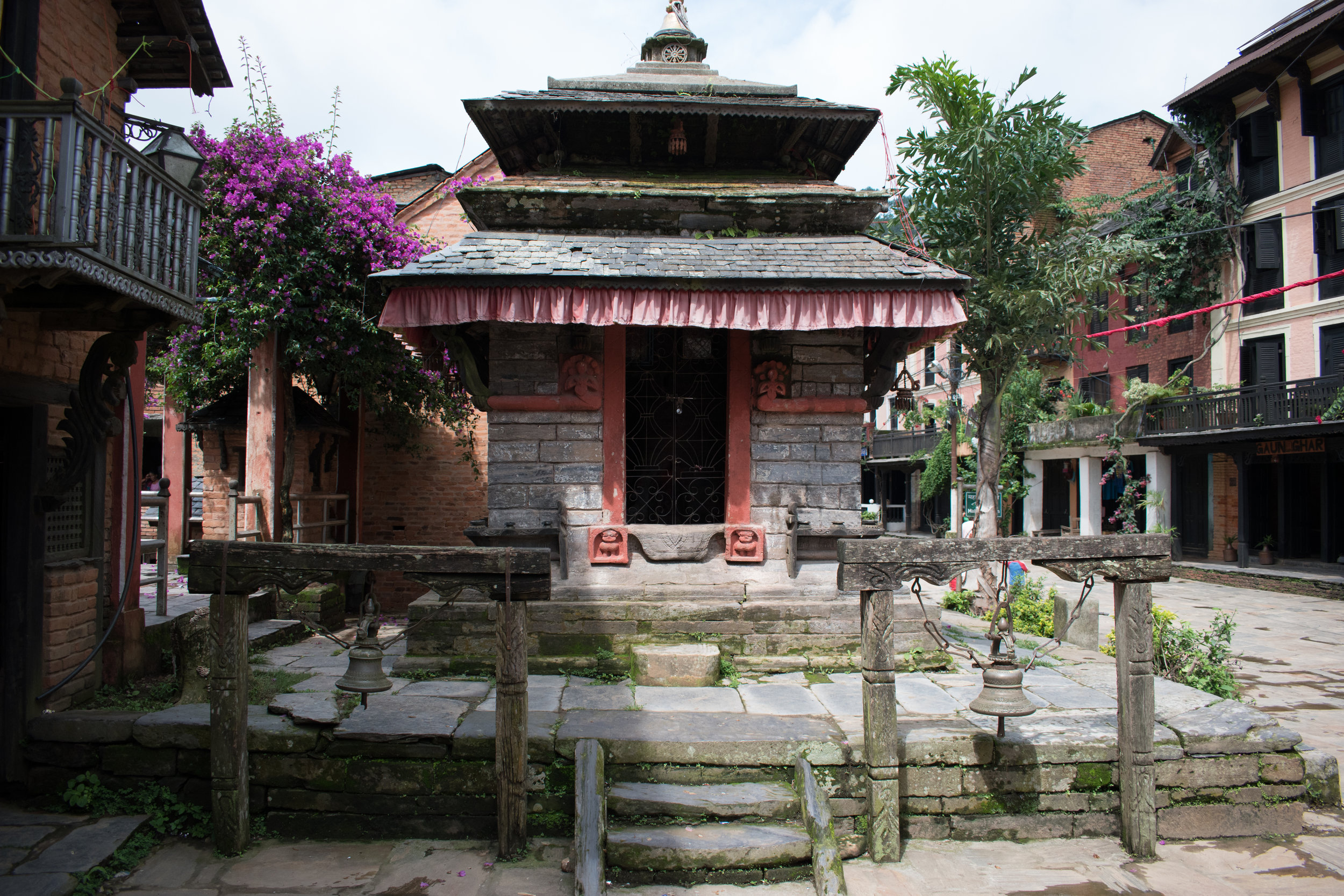 In The Centre Of The Village In Bandipur, Nepal