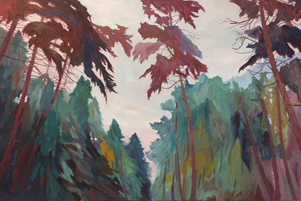 Trespassing For Art V, 90cm x 60cm,oil on canvas