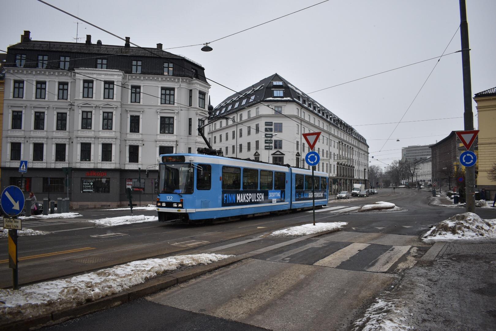 A Tram in Oslo, Norway