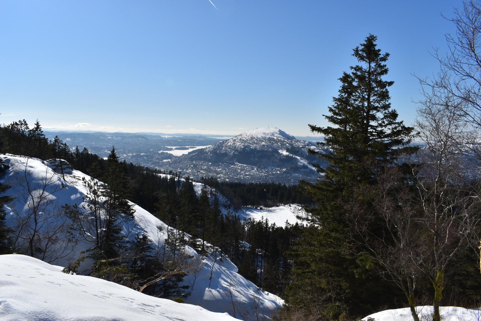 On Top Of Mount Floyen in Bergen, Norway