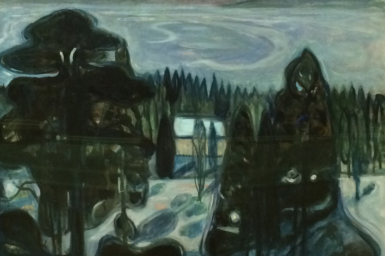 Detail Of White Night By Edvard Munch in The National Gallery, Oslo in Norway