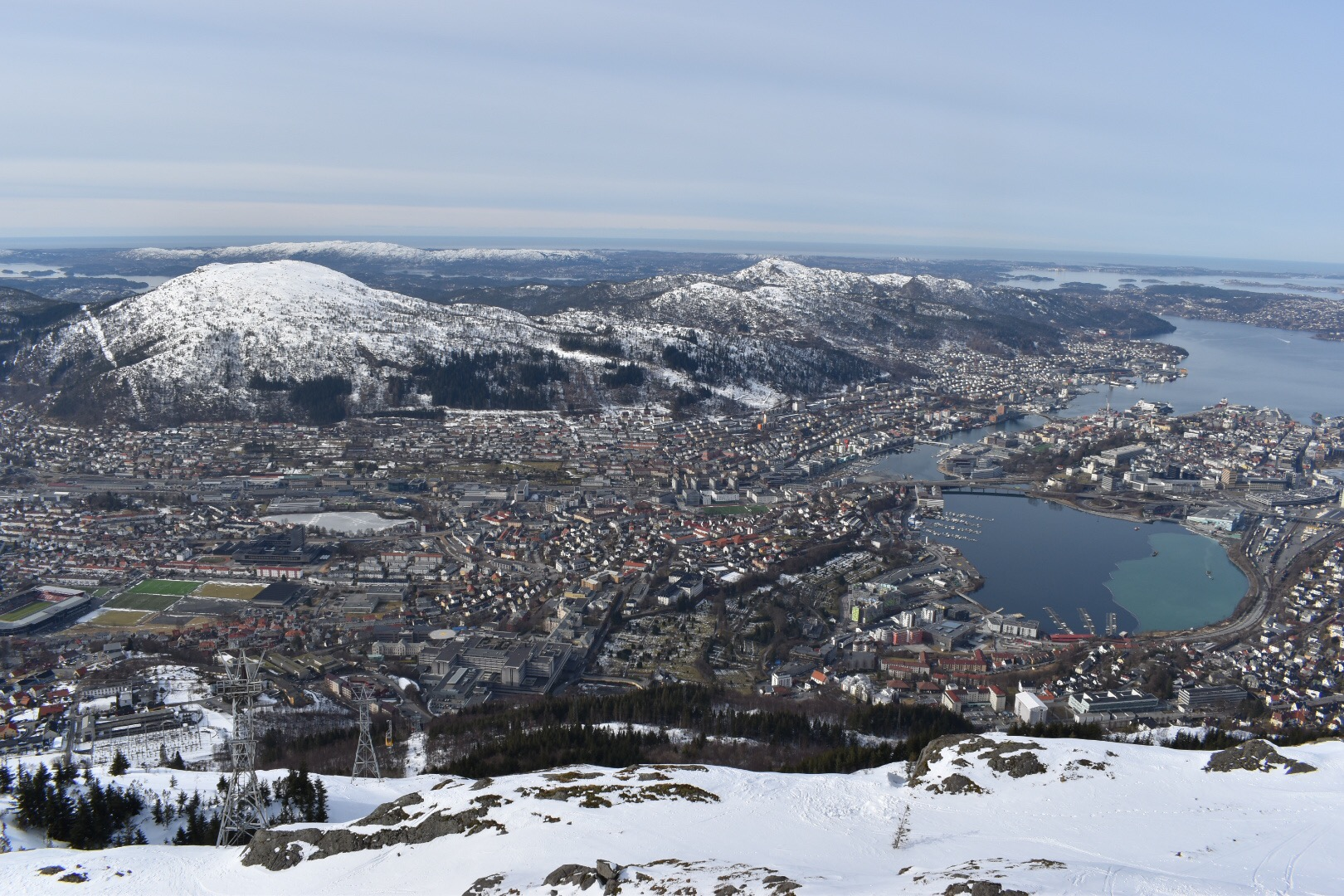 The City Of Bergen As Seen From Mount Uliriken, Norway