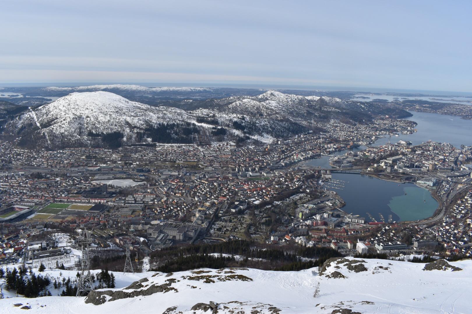 The City Of Bergen As Seen From Mount Uliriken, Norway