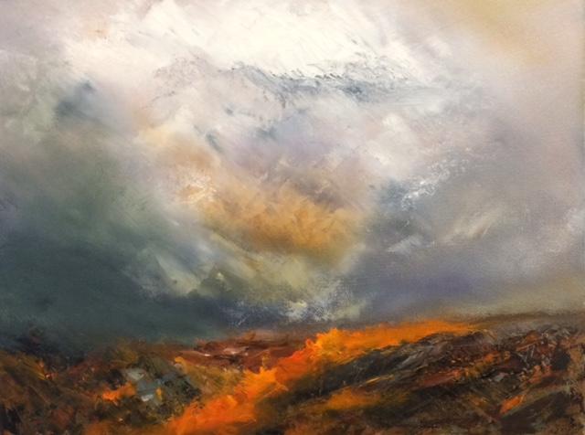 Louise Chatfield, Autumn Glow - Brecon Beacons
