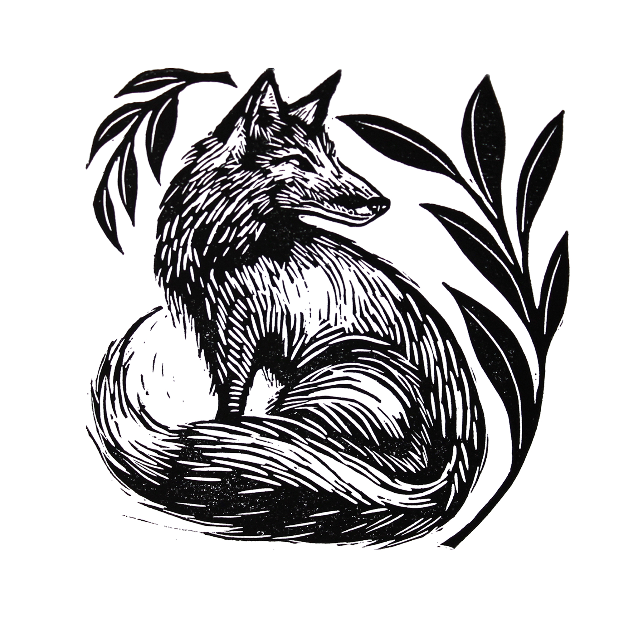 Fox Print By Cally Conway