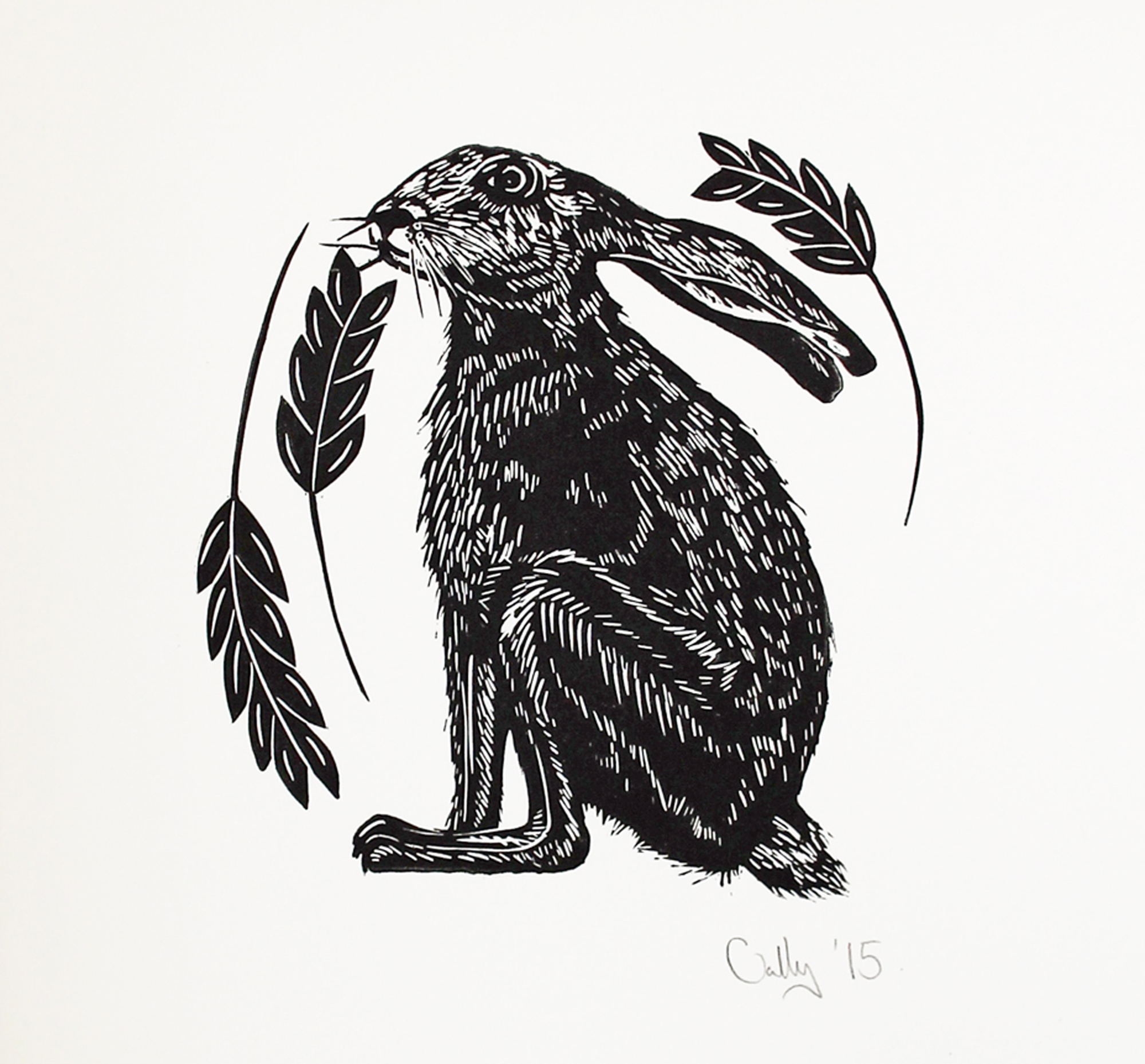 Hare Print By Cally Conway