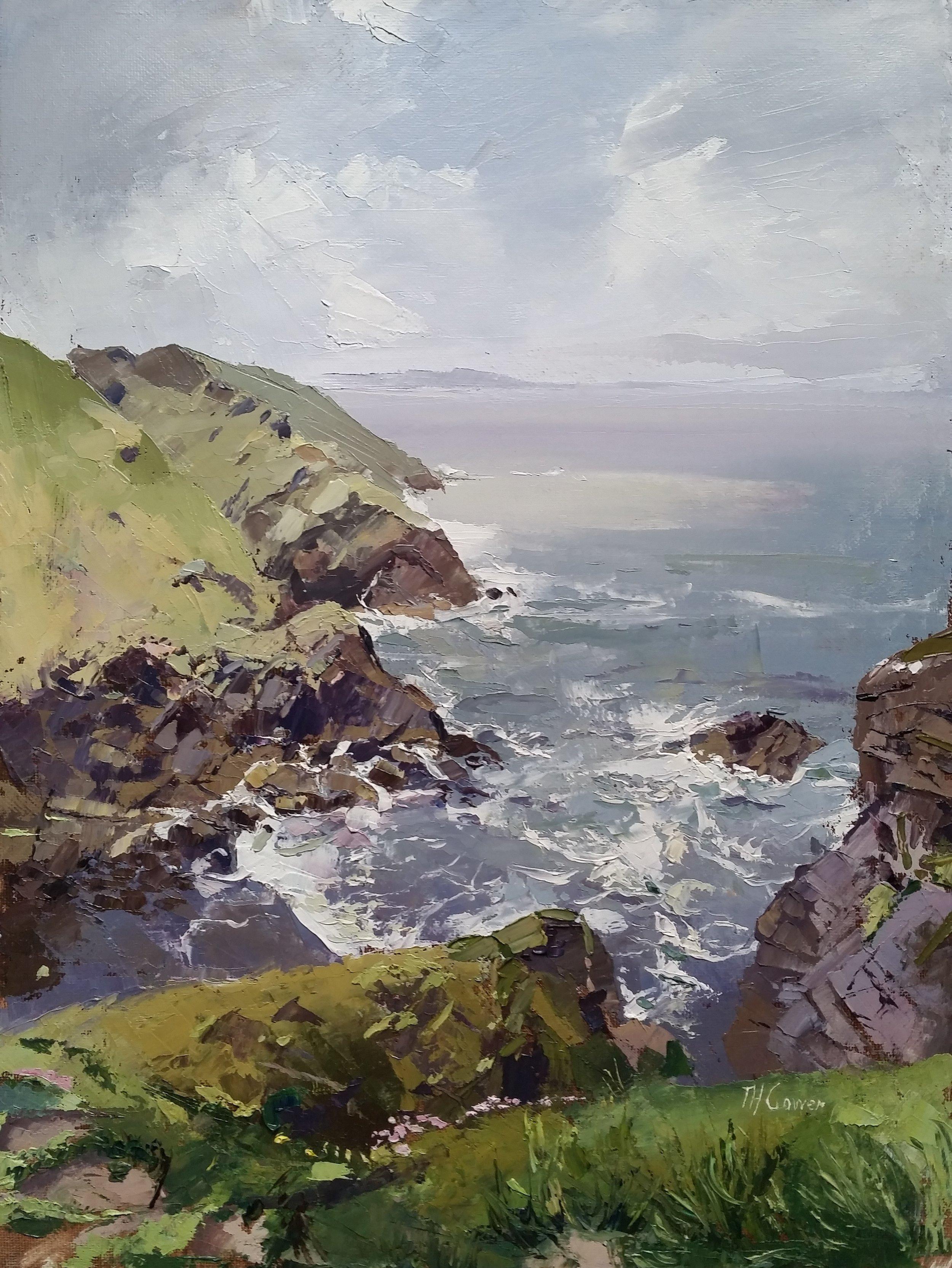 Cliffs Near Moylgrove by Tom Gowen