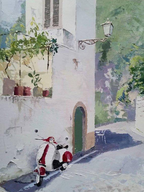 Scooter in a Street by Tom Gowen