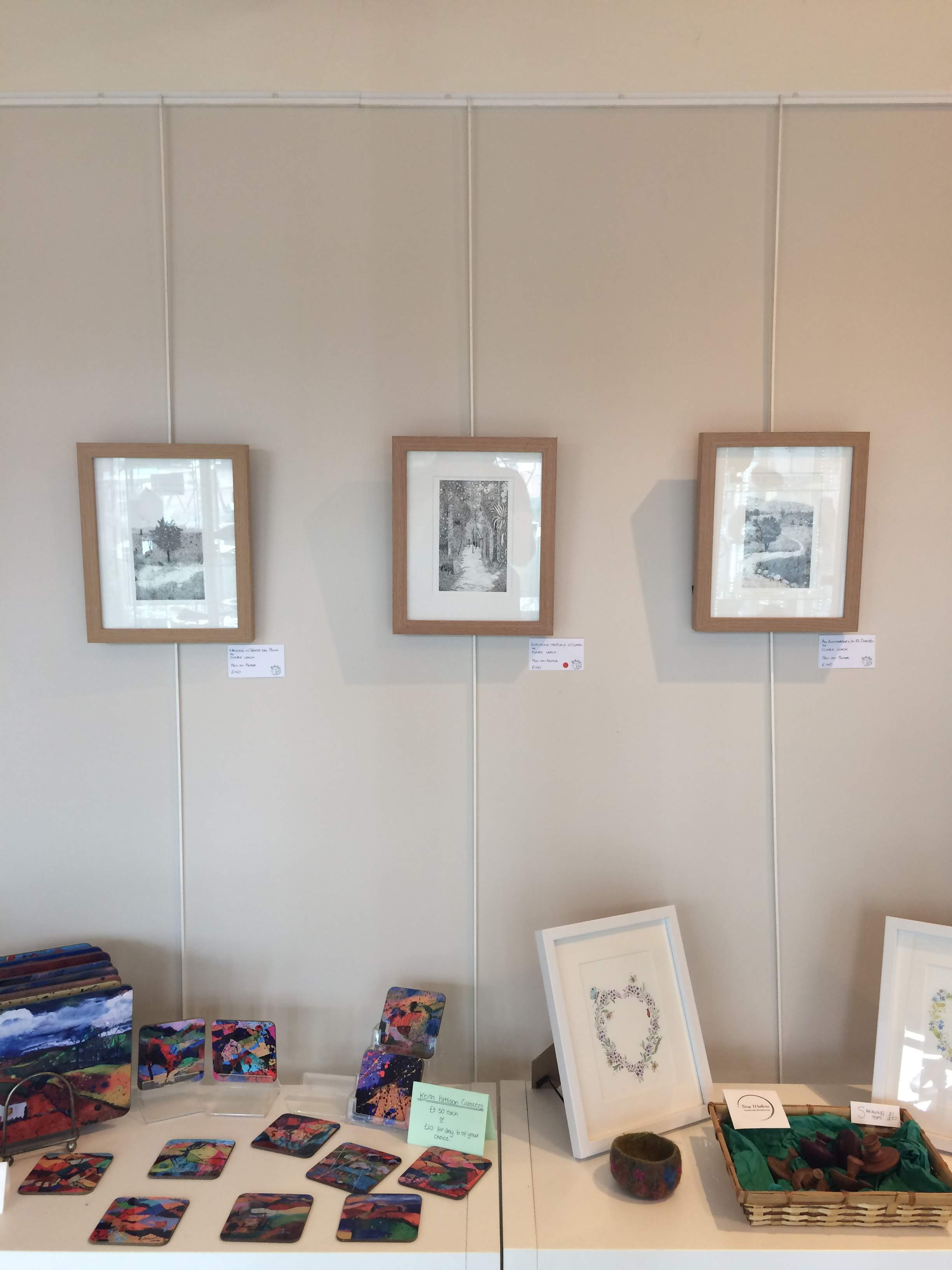Three Drawings In Situ at The Sheep Shed Gallery
