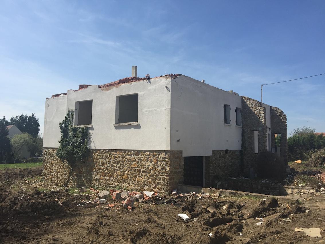 Démolition de la maison existante