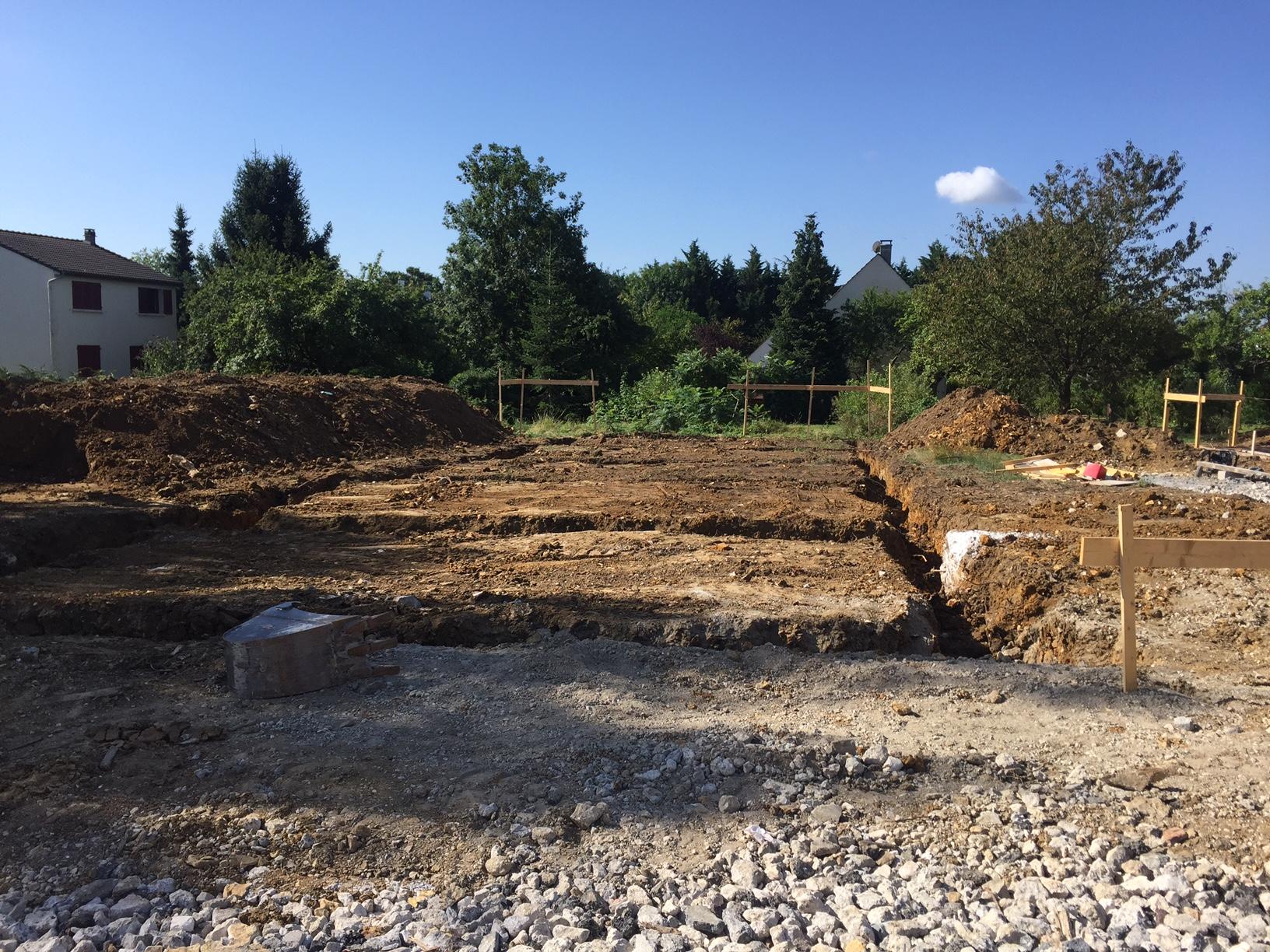 Ouverture des fouilles pour les maisons de 5 à 9