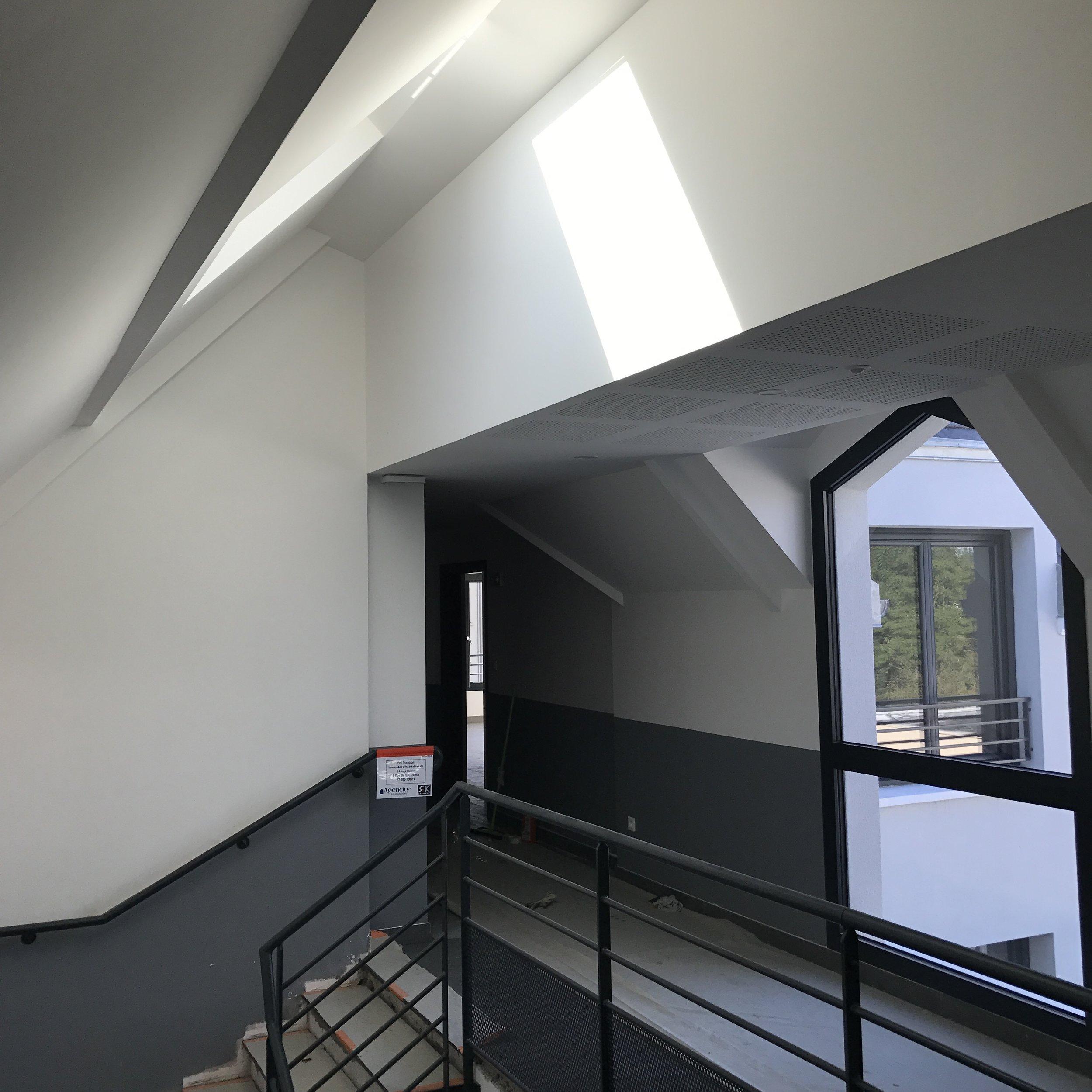 Parties communes du dernier étage