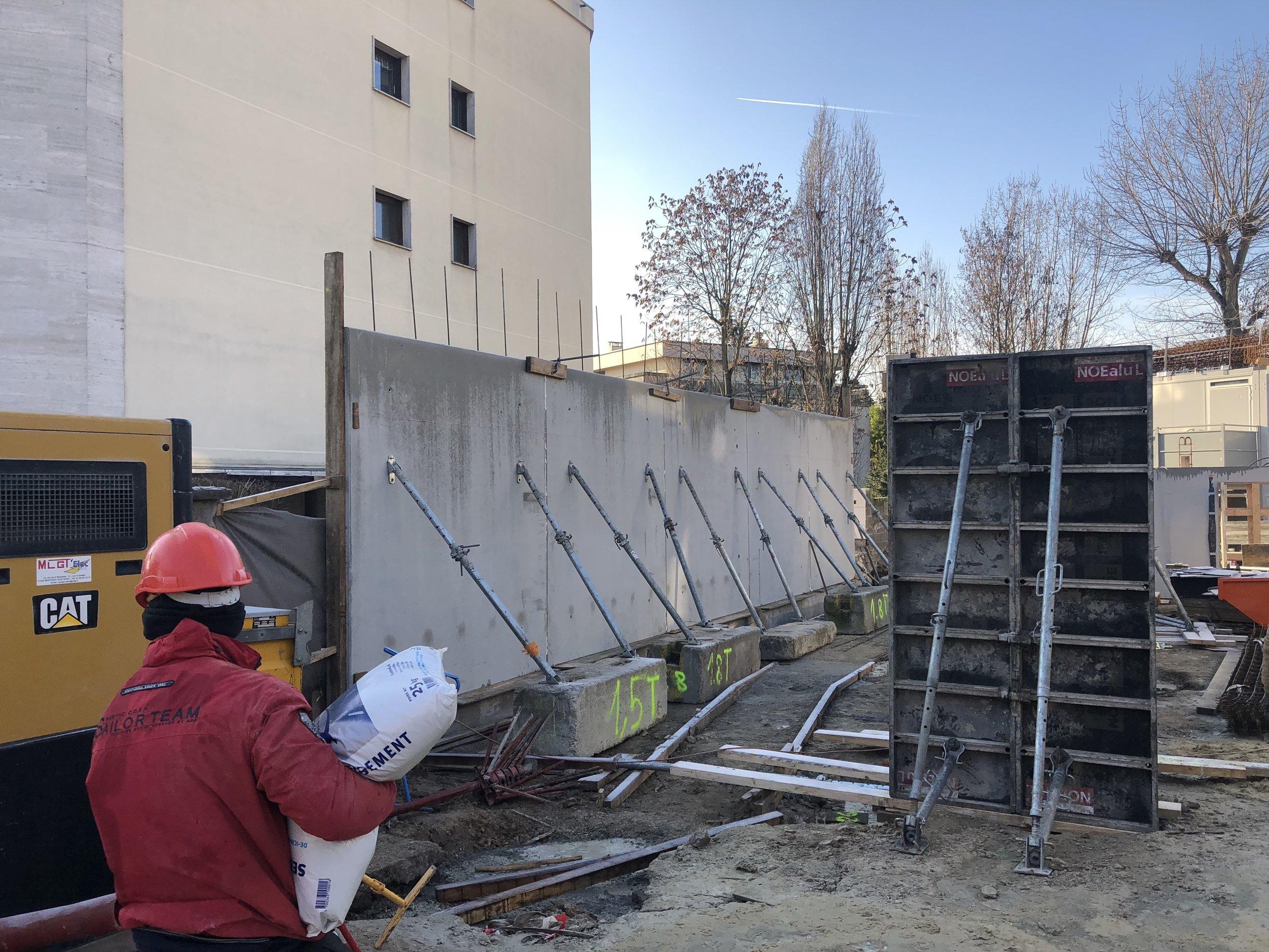 Mise en place des pré-murs