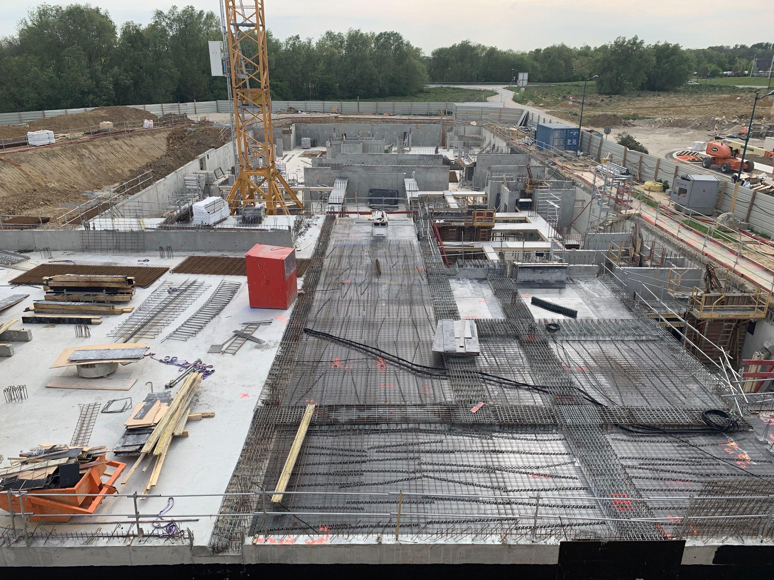 Préparation du plancher RDC du bâtiment B