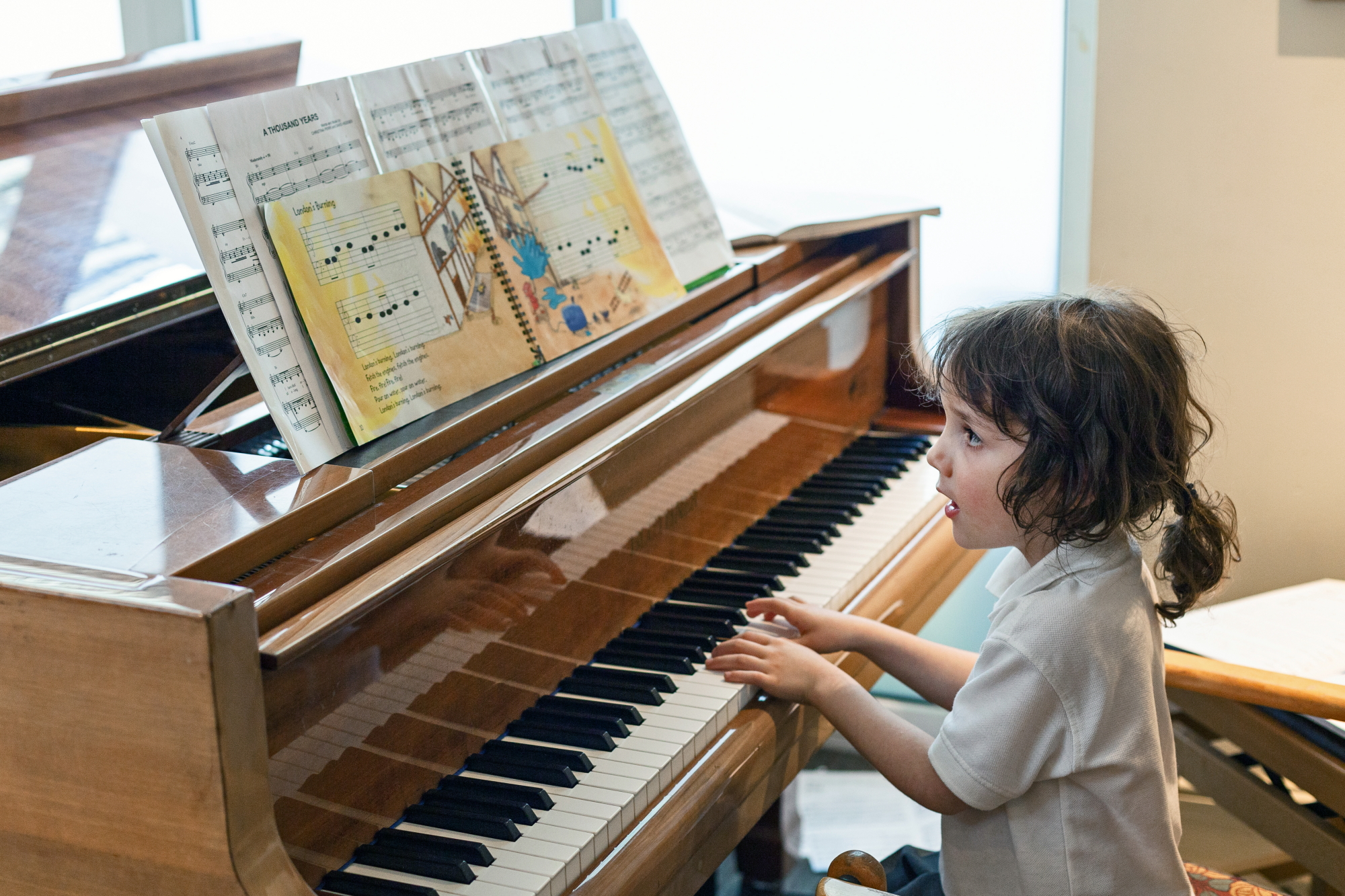 Student of Otakar Kraus Music School performing, May 2018