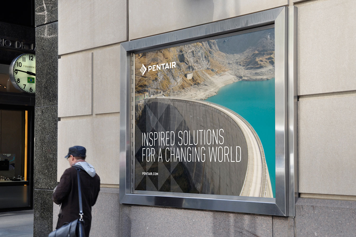 Pentair framed outdoor poster: Inspired Solutions for A Changing World