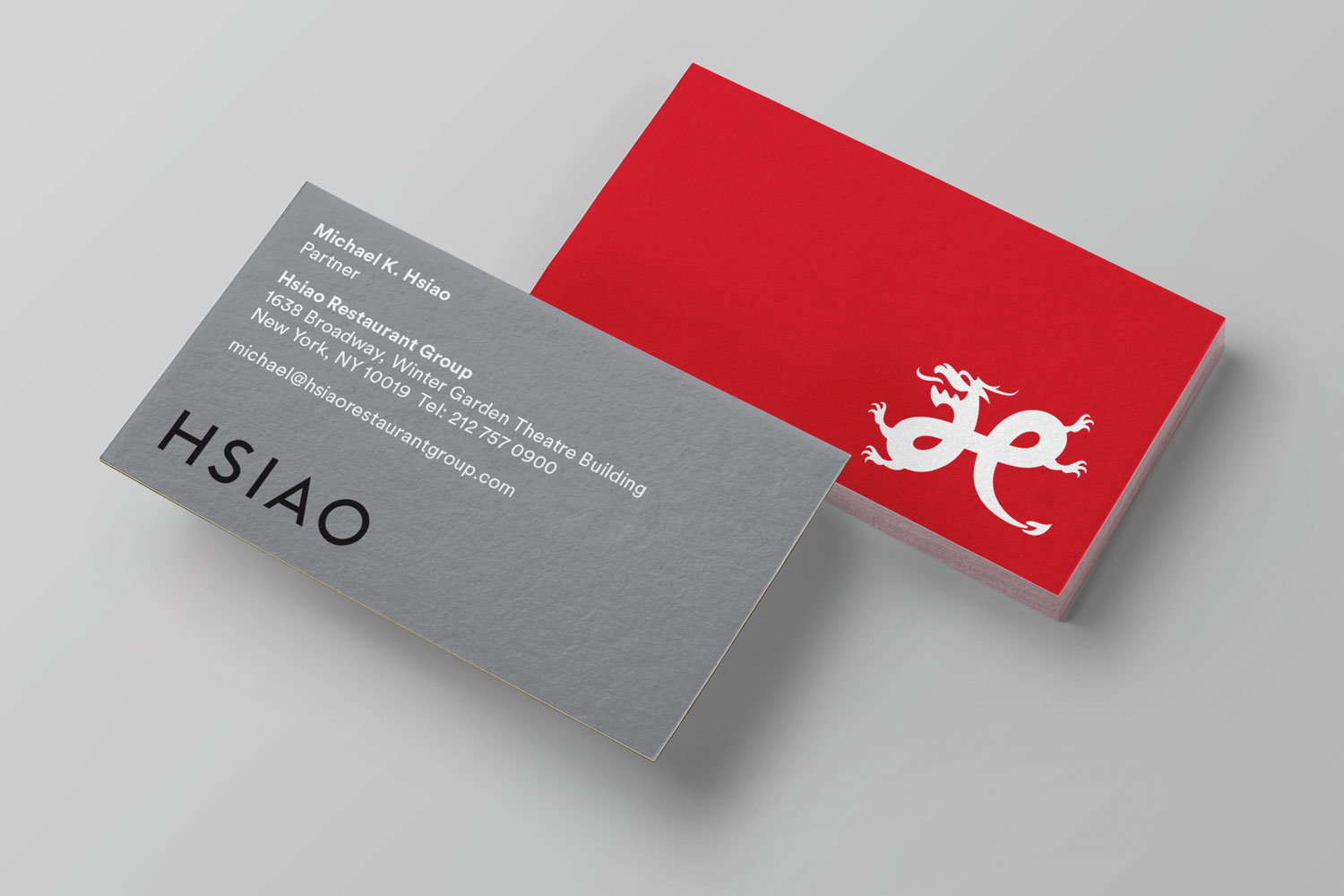 Hsiao Restaurant Group business cards