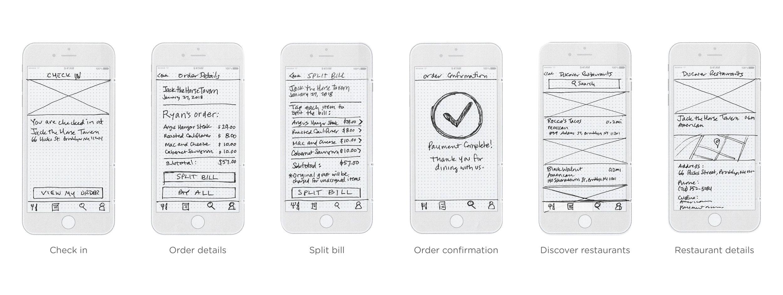 Low-fidelity prototypes