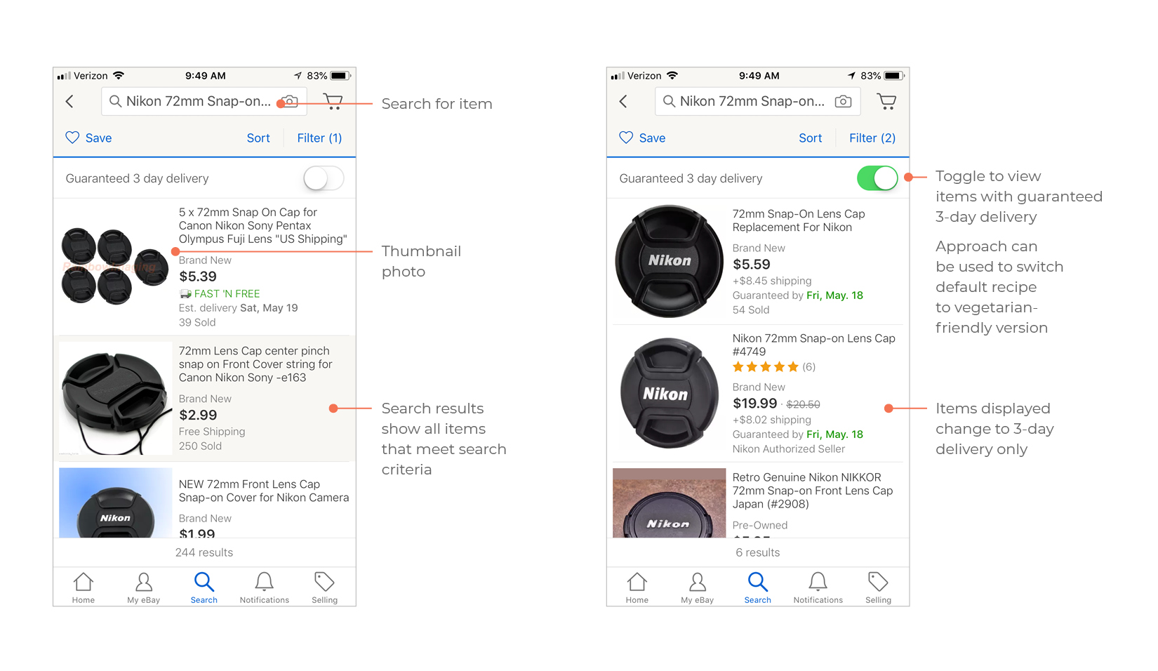 SAVR app competitive analysis, Ebay