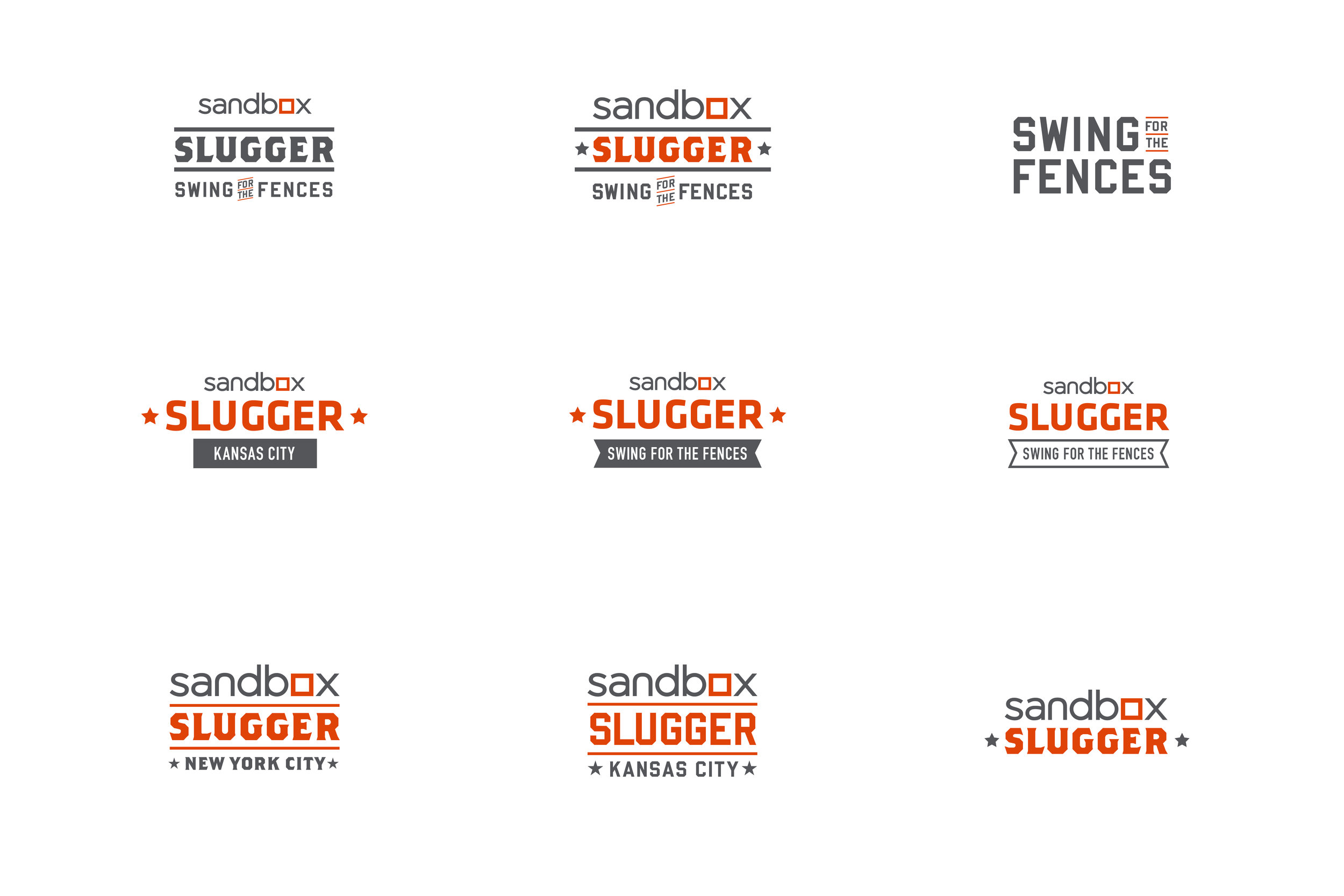 Sandbox Slugger logo exploration
