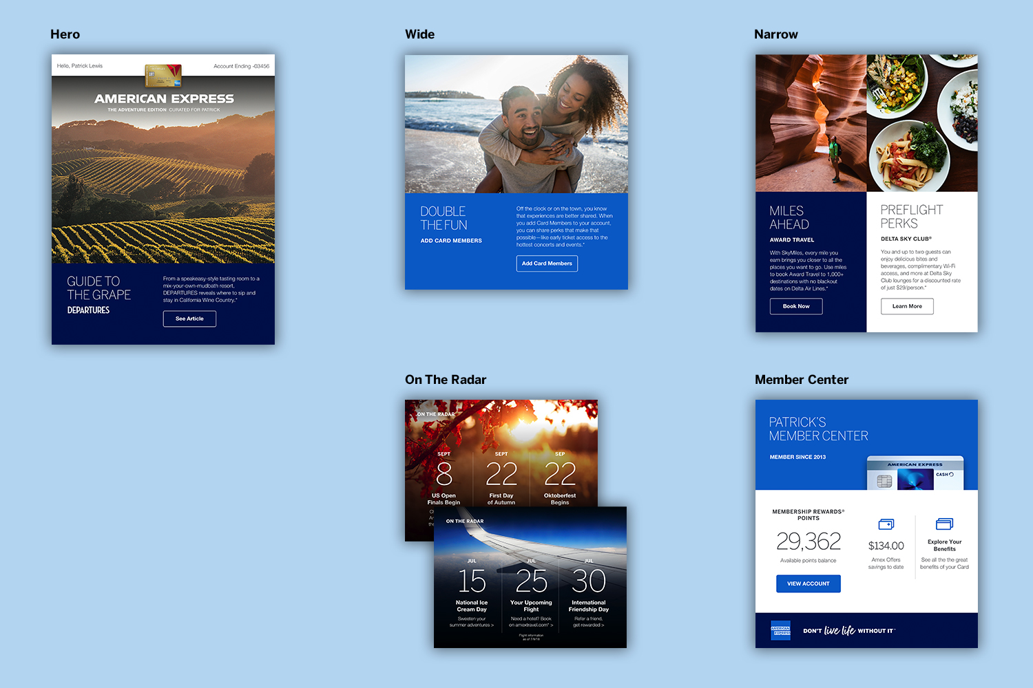 Components of American Express Member Essentials email newsletter