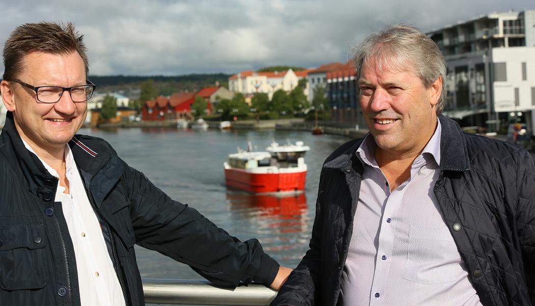 T.v. Markeds- og forvaltningsdirektør Øivind Kvammen og utviklingsdirektør Sigbjørn Moe forteller om Værstes planer fremover.
