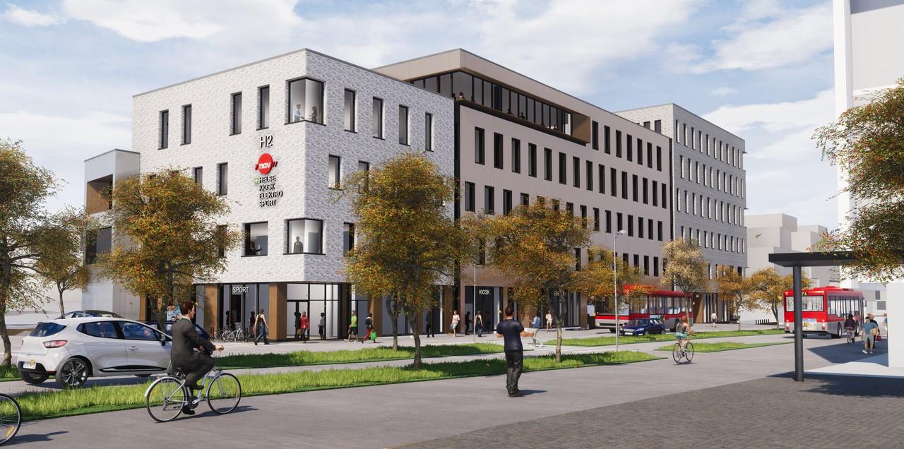 Illustrasjon: Griff Arkitektur H2 er under oppføring og ferdigstilles i august
