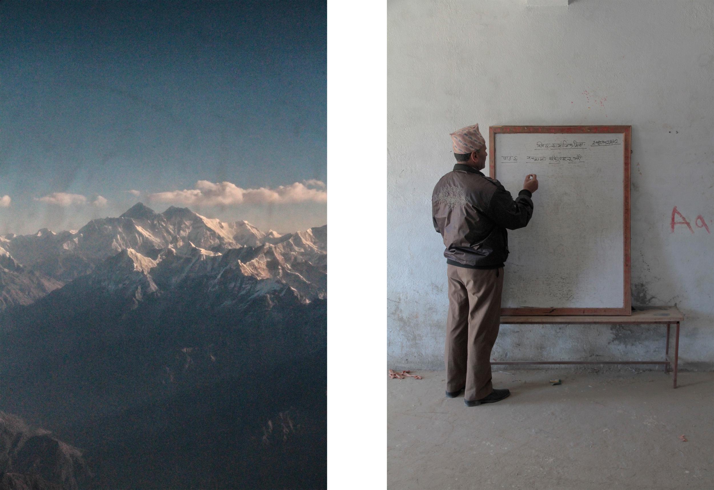 Mountain village teacher. Kathmandu, Nepal