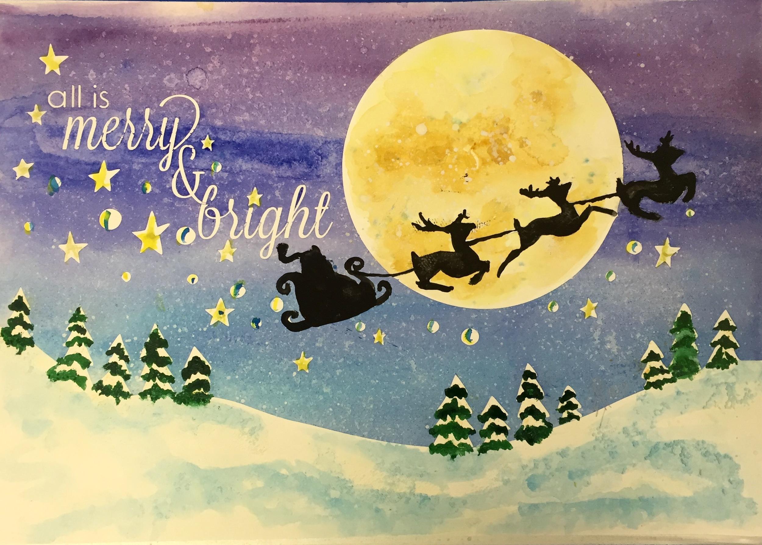 Santa - Merry & Bright