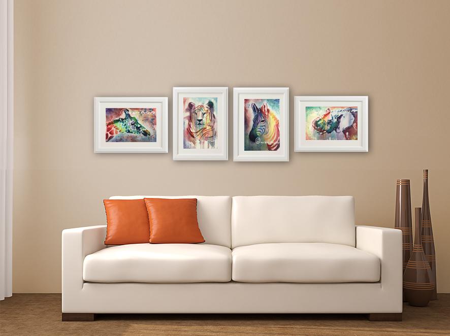 Paint The Wild Series - Elephant, Zebra, Tiger, Giraffe, Cheetah