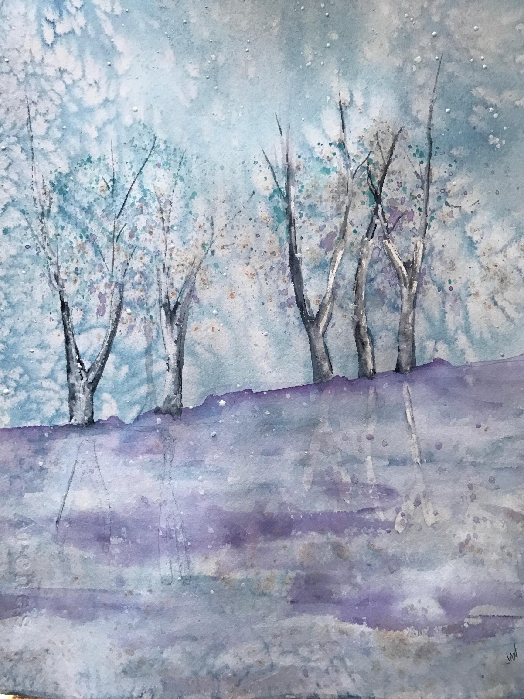 Frozen Aspens
