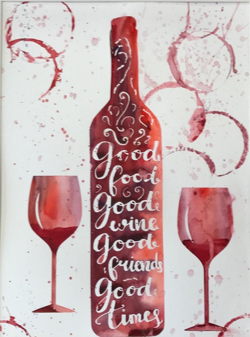 Wine bottle Series - Good Wine