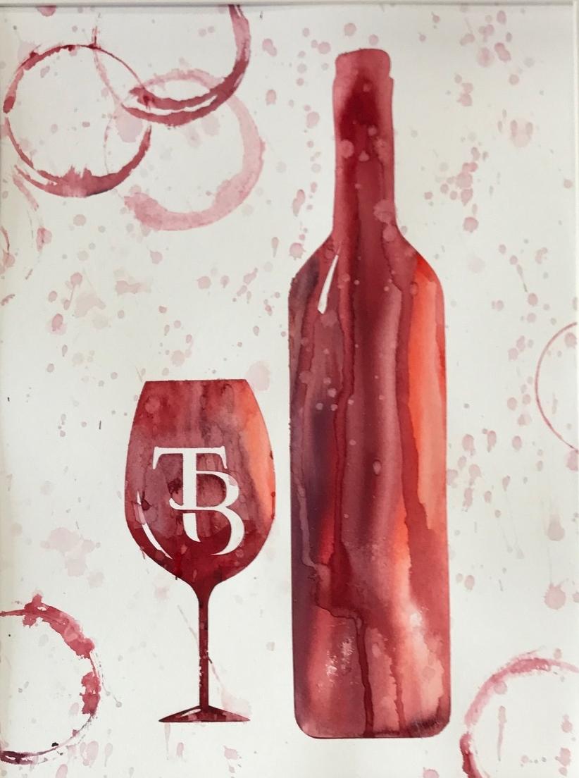 Wine bottle Series - Initials/Logo