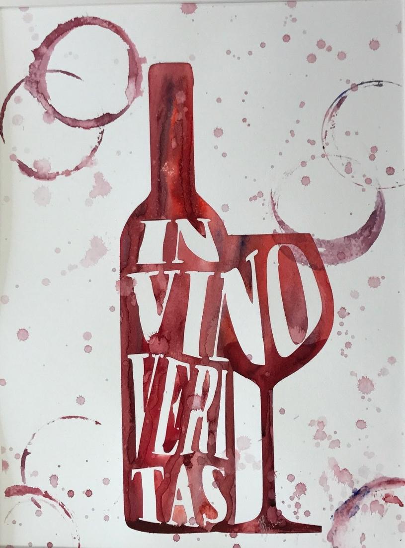 Wine bottle Series - In Vino Veritas